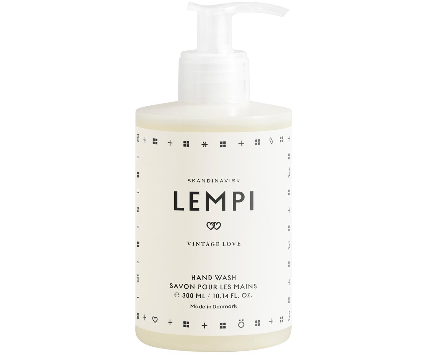 Jabón de manos Lempi (rosa), Recipiente: plástico, Interior: jabón de manos, Blanco, 300 ml