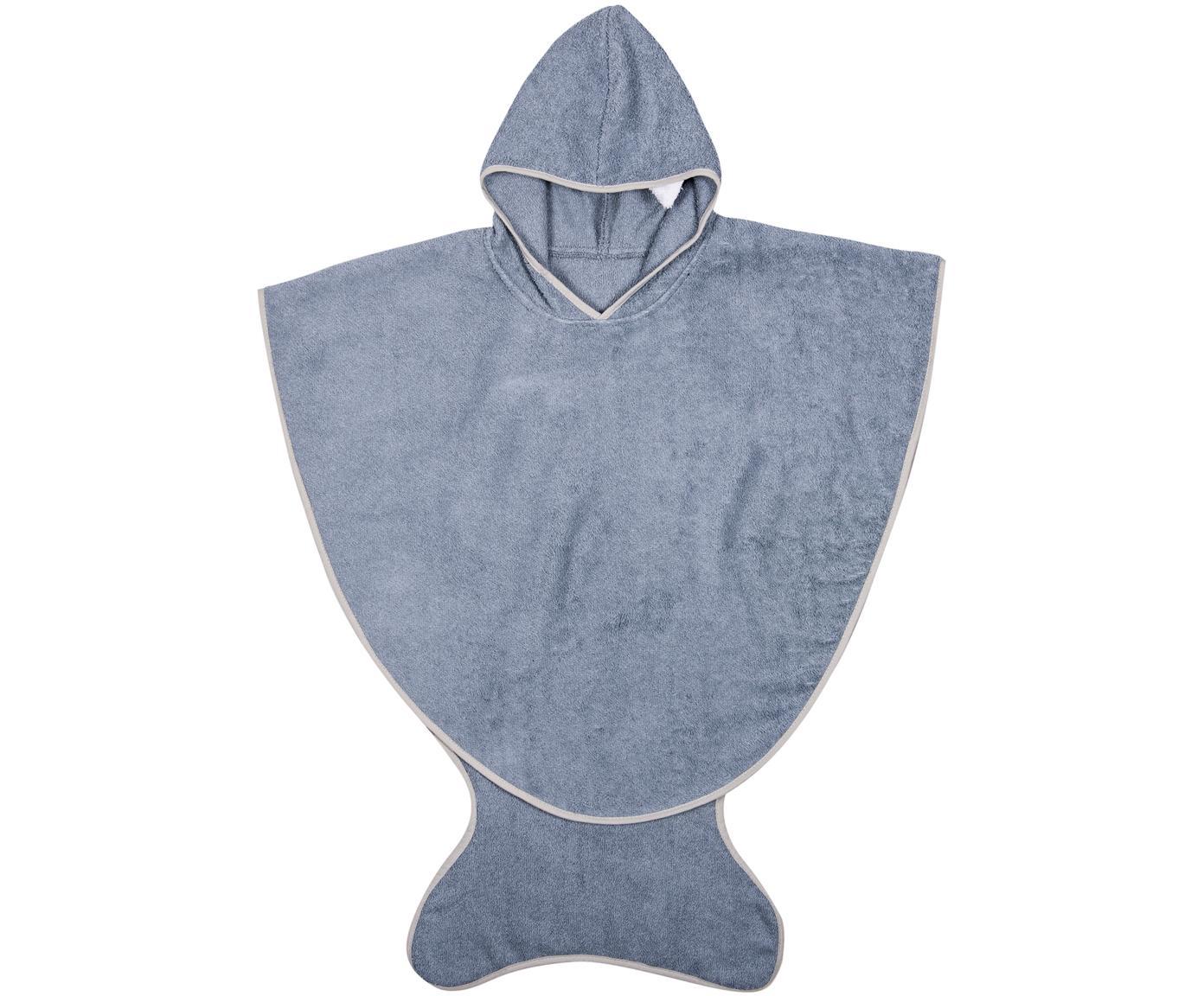 Asciugamano per bambini Fish, Cotone, Blu grigio, Larg. 71 x Alt. 87 cm