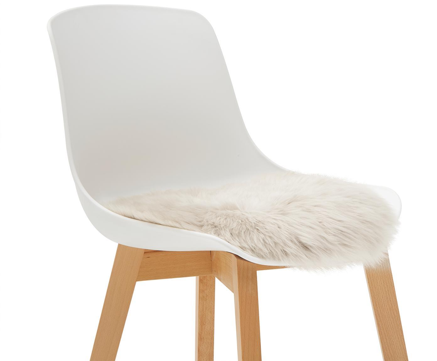 Nakładka na siedzisko ze skóry owczej Oslo, Beżowy, Ø 37 cm