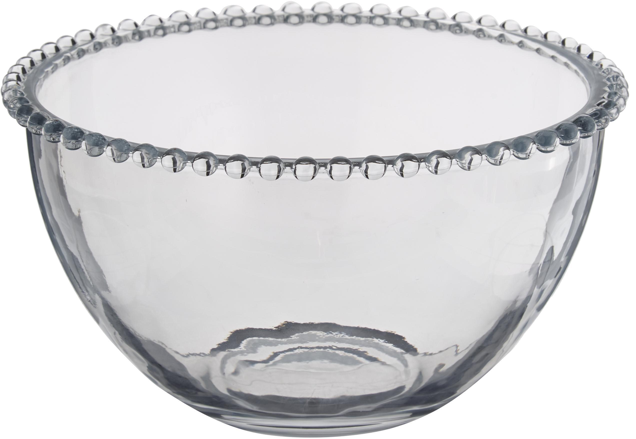 Glas-Schälchen Perles, Glas, Transparent, Ø 21 cm