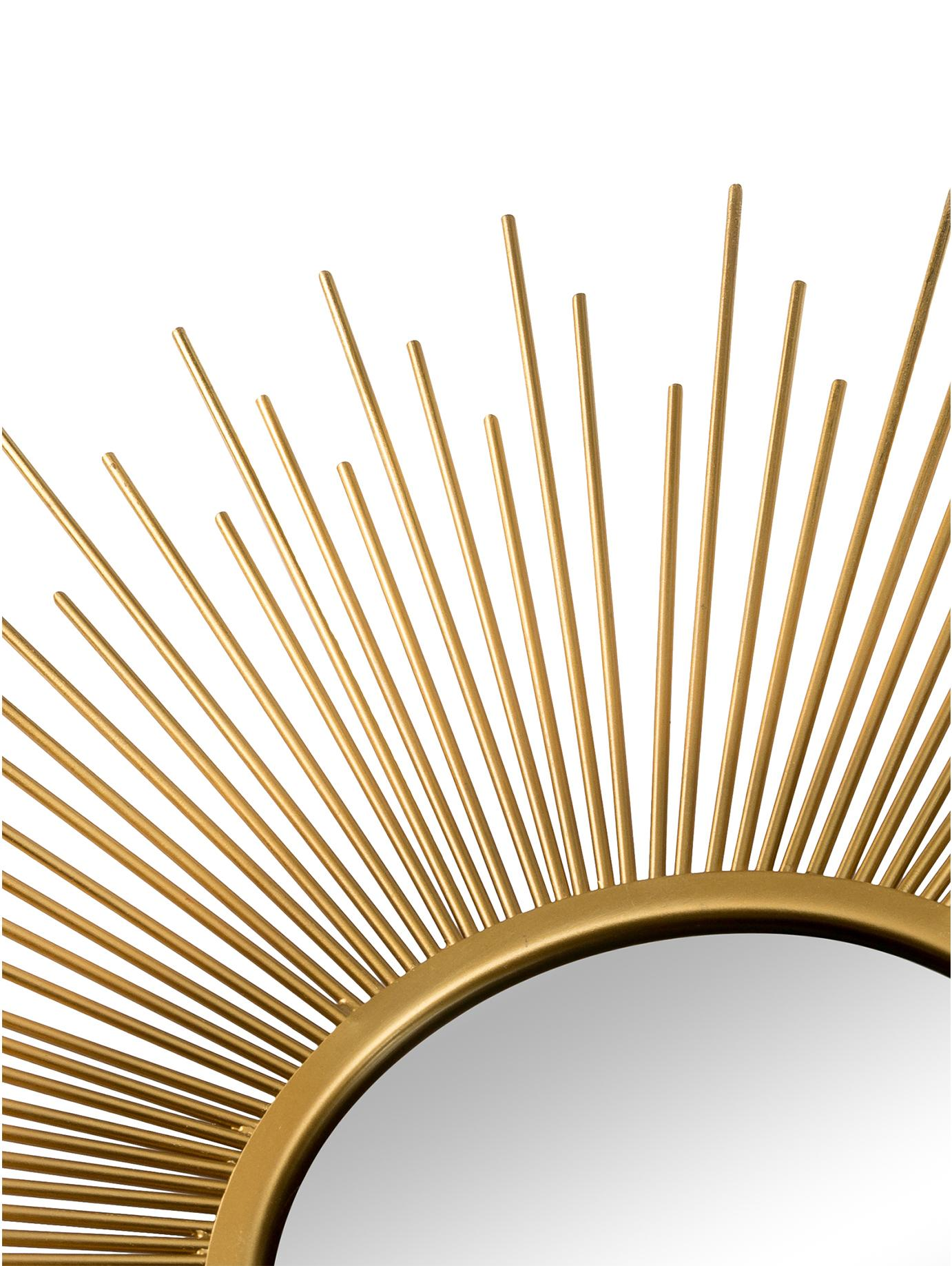 Sonnenspiegel-Set Sun mit Goldrahmen, 3-tlg, Rahmen: Aluminium, beschichtet, Spiegelfläche: Spiegelglas, Goldfarben, Sondergrößen