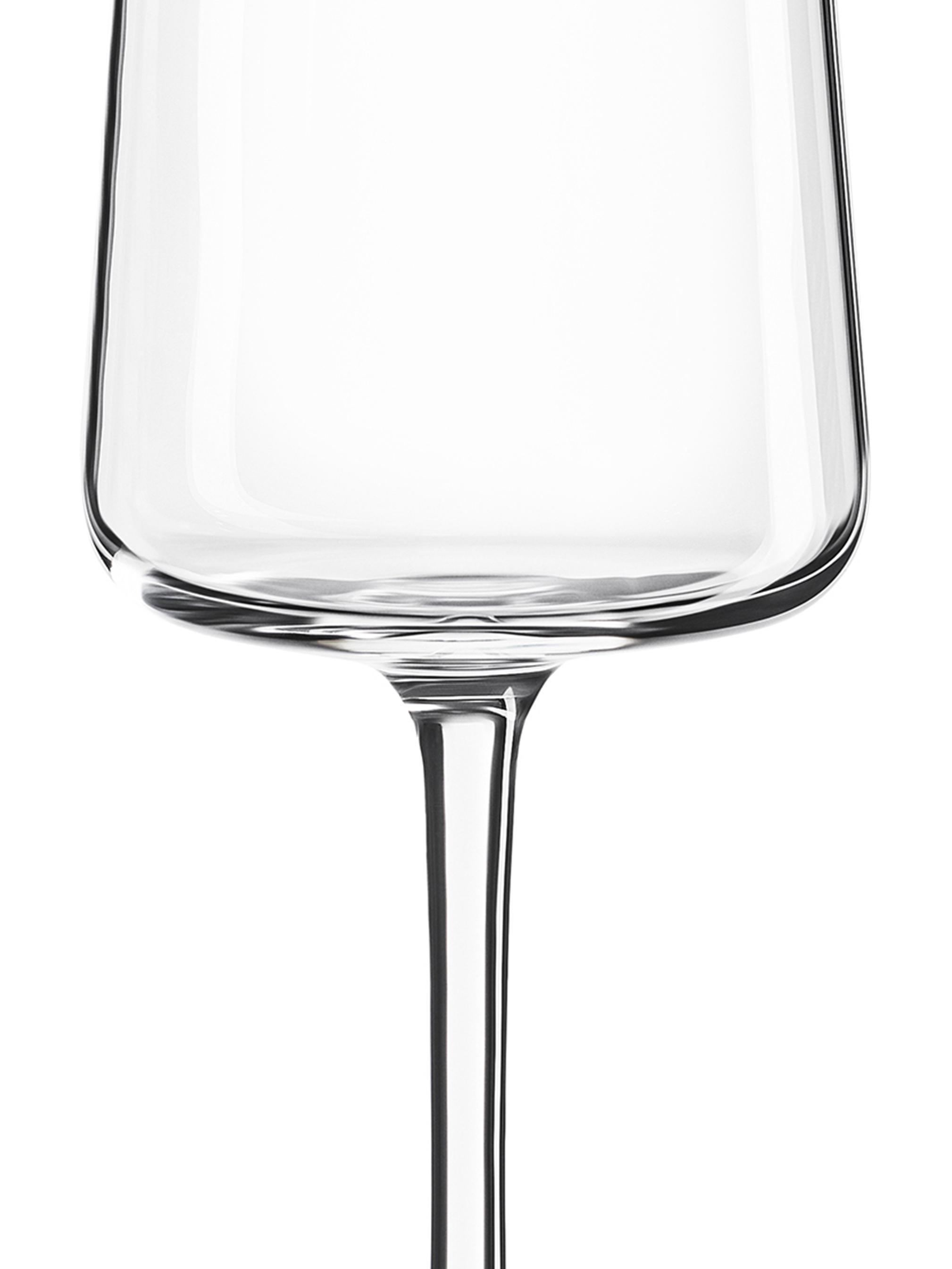 Kristall-Sektgläser Power in Kegelform, 6er-Set, Kristallglas, Transparent, Ø 7 x H 23 cm