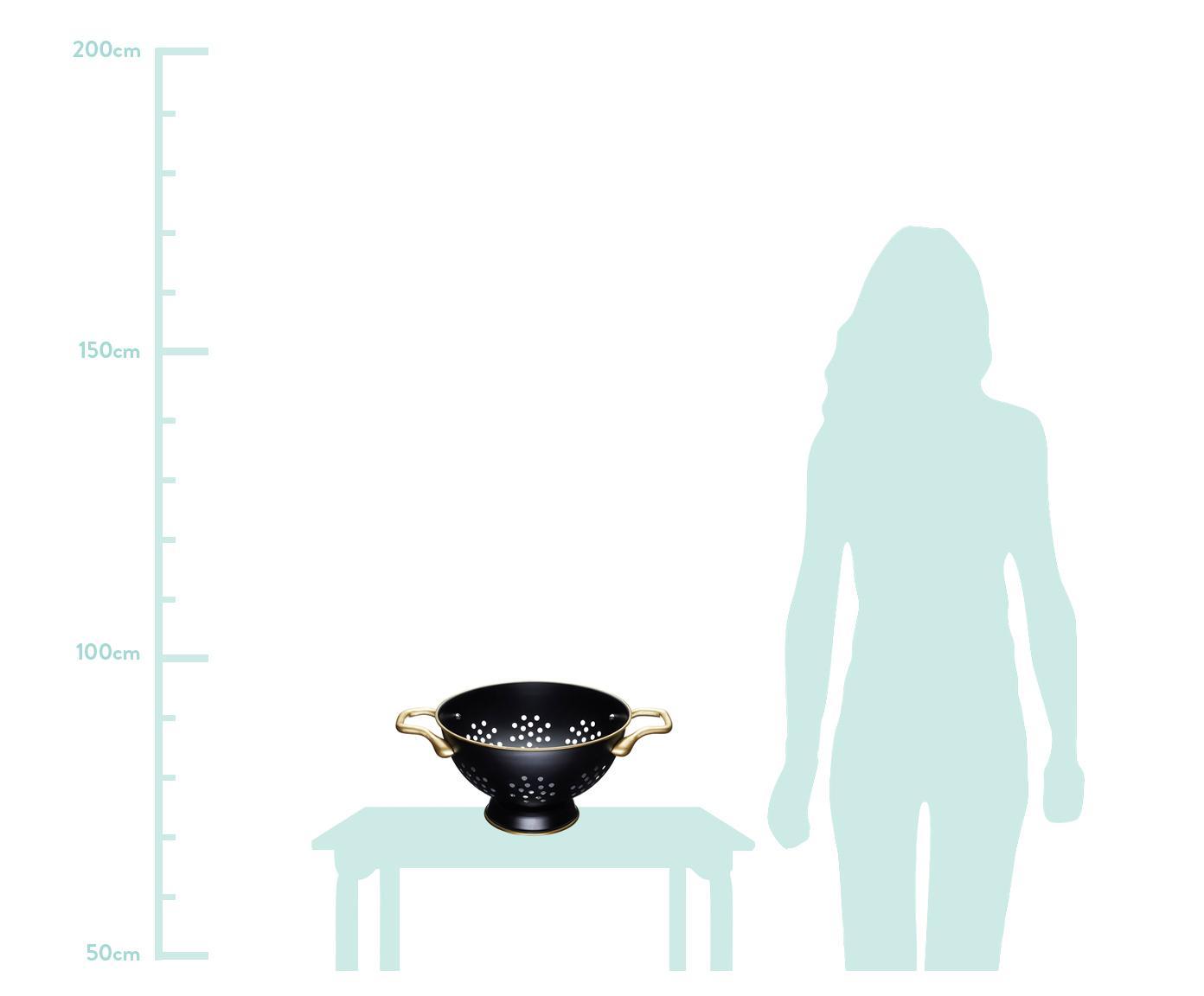 Küchensieb Master Class, Messing, beschichtet, Schwarz, Messing, Ø 26 x H 15 cm