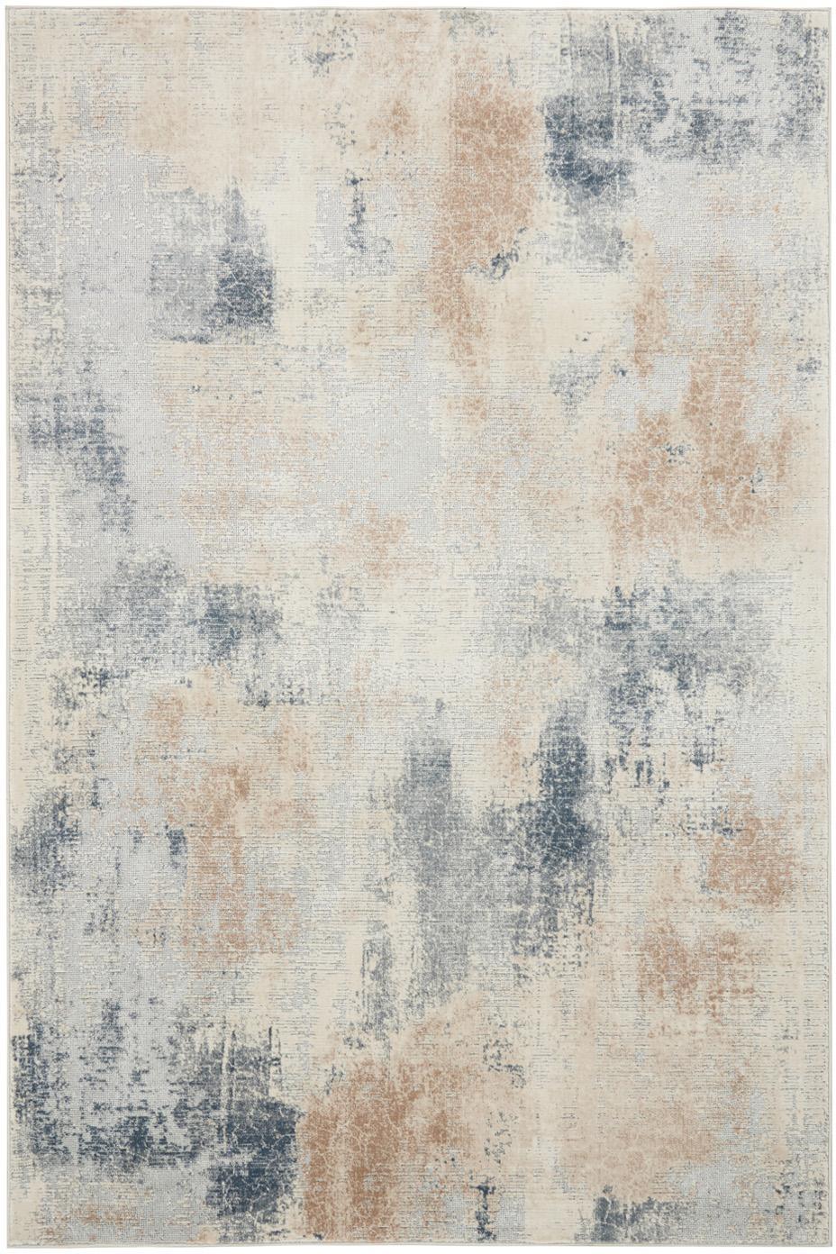 Design vloerkleed Rustic Textures II in beige-grijs, Bovenzijde: 51%polypropyleen, 49%po, Onderzijde: 50%jute, 50%latex, Beigetinten, grijs, B 120 x L 180 cm (maat S)