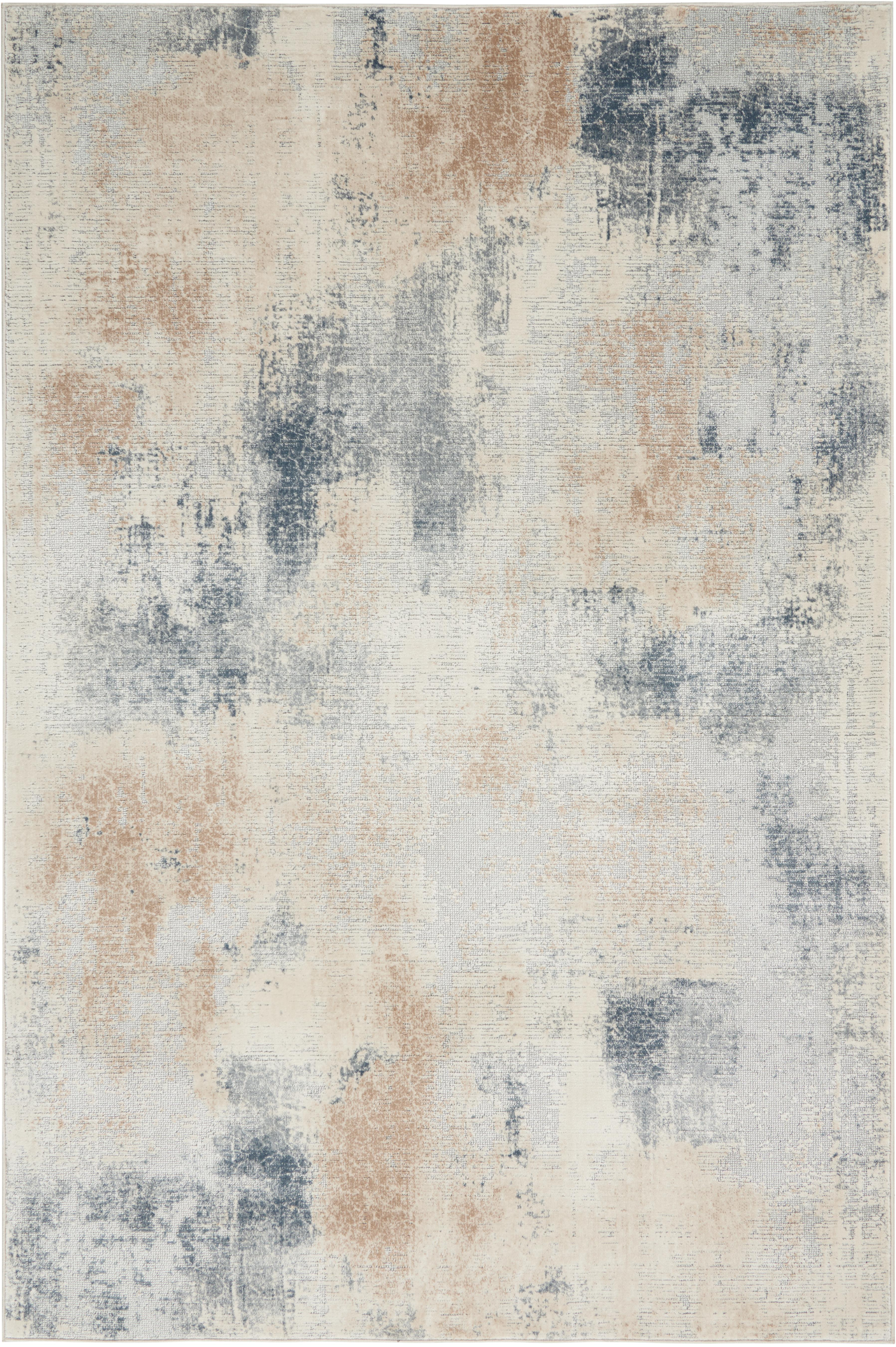 Tappeto di design beige/grigio Rustic Textures, Retro: 50%juta, 50%Latex, Tonalità beige, grigio, Larg. 120 x Lung. 180 cm (taglia S)