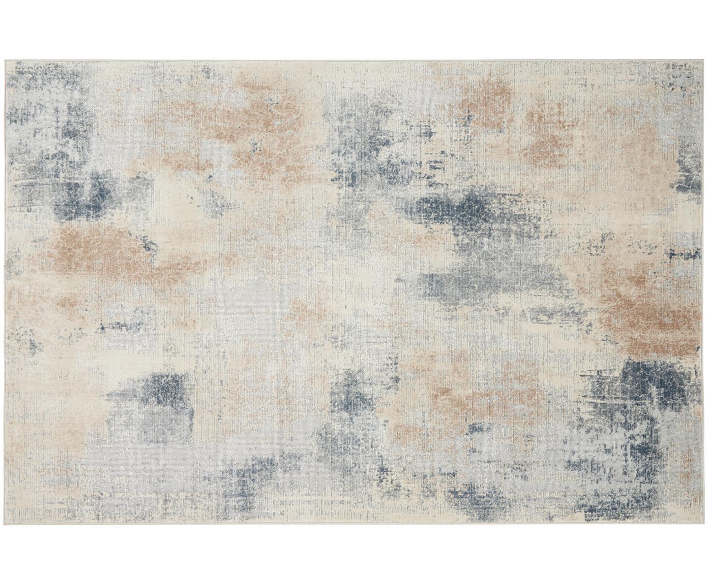 Tappeto di design Rustic Textures, Retro: 50%juta, 50%Latex, Tonalità beige, grigio, Larg. 120 x Lung. 180 cm (taglia S)