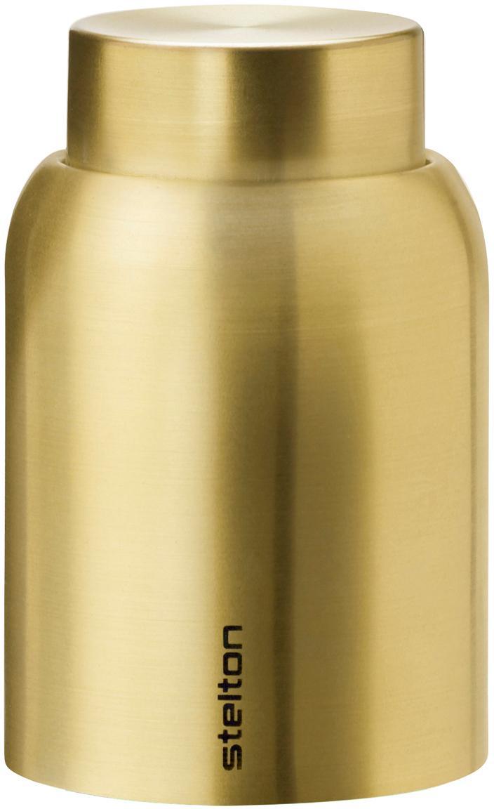 Vacuüm flessendop Collar, Vermessingd edelstaal, Messingkleurig, Ø 4 x H 6 cm