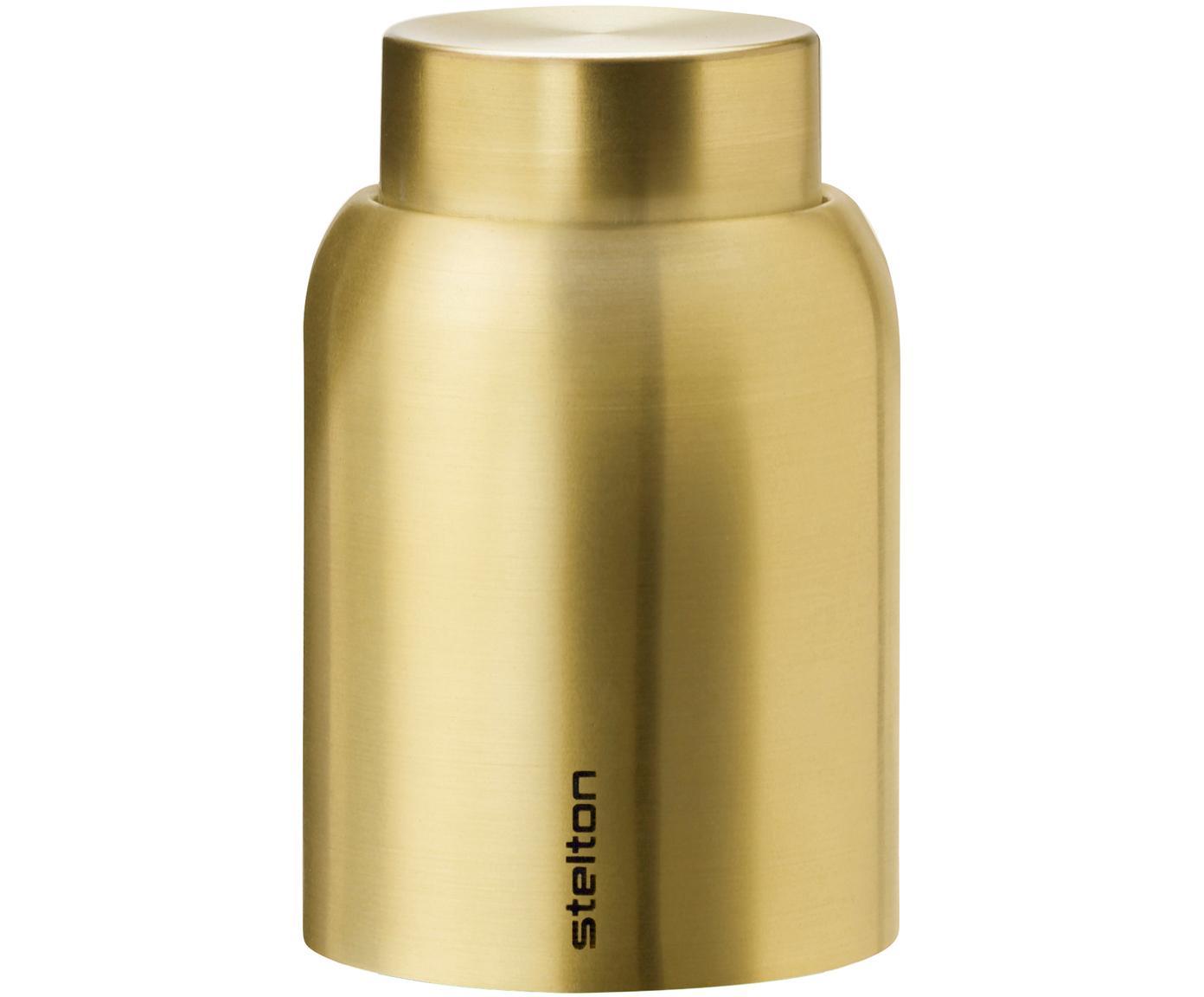Tappo per bottiglia in oro Collar, Acciaio inossidabile, ottonato, Ottonato, Ø 4 x Alt. 6 cm