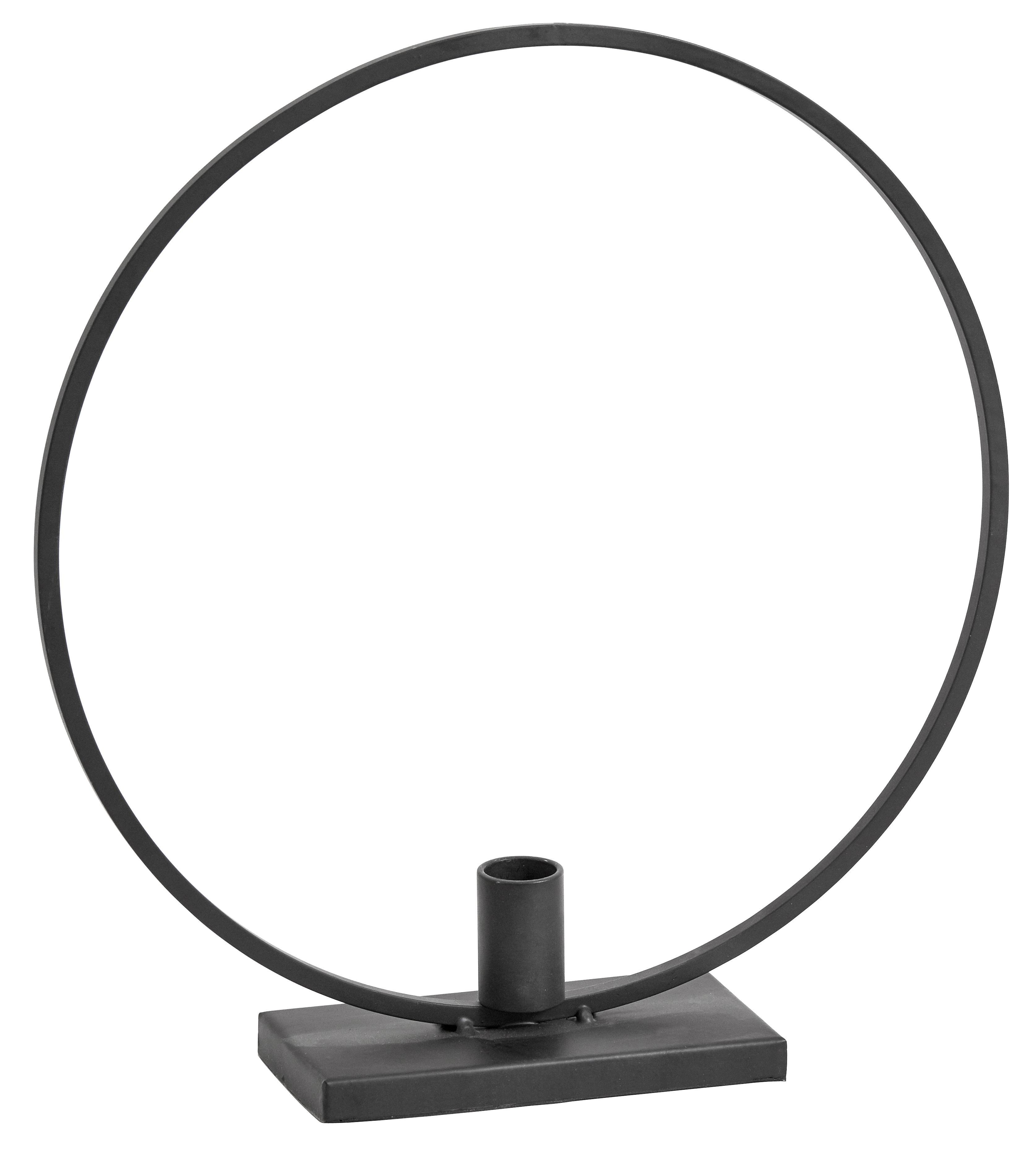 Świecznik Agell, Metal powlekany, Czarny, S 29 x W 31 cm