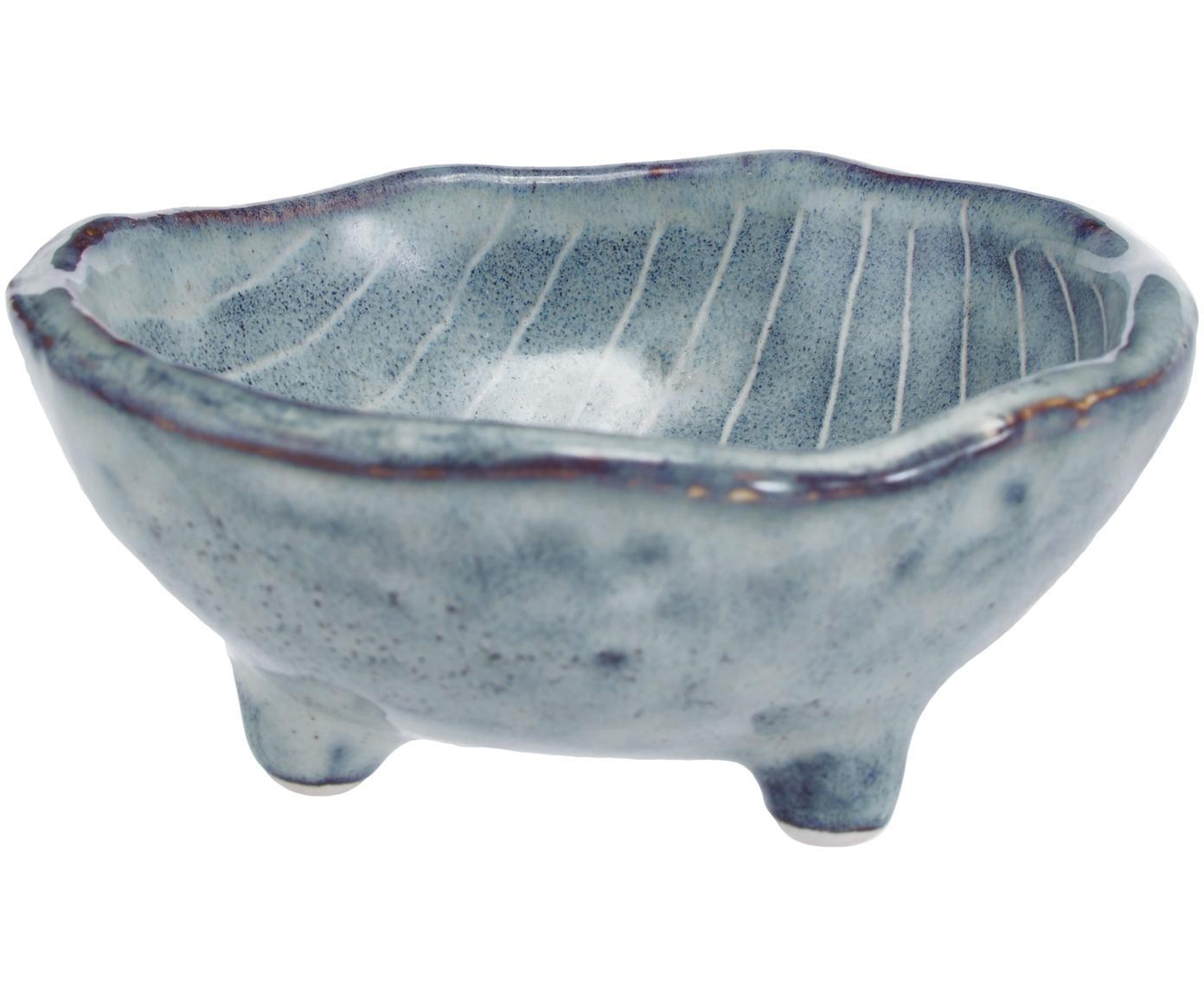 Ciotola fatta a mano Nordic Sea 4 pz, Terracotta, Grigio e tonalità blu, Ø 8 x Alt. 4 cm