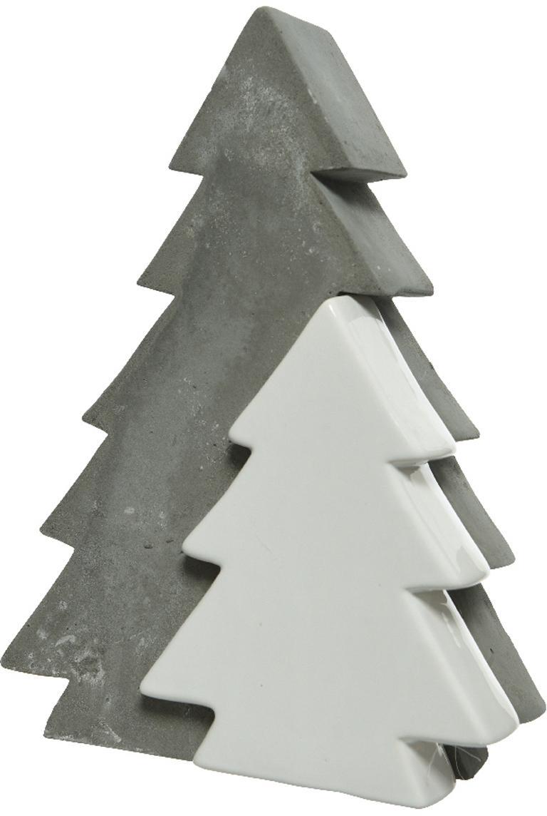 Figura decorativa Joseph, Cemento, parcialmente recubierto, Gris, blanco, Al 215 cm