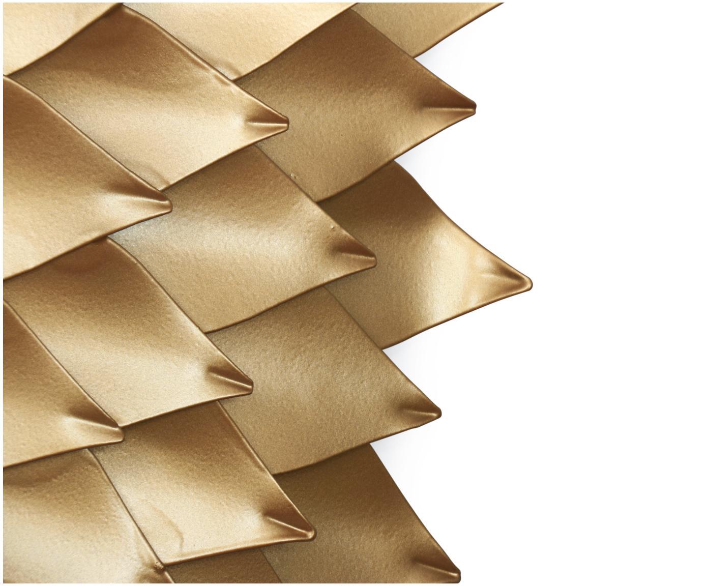 Okrągłe lustro ścienne Petal, Odcienie złotego, Ø 95 cm