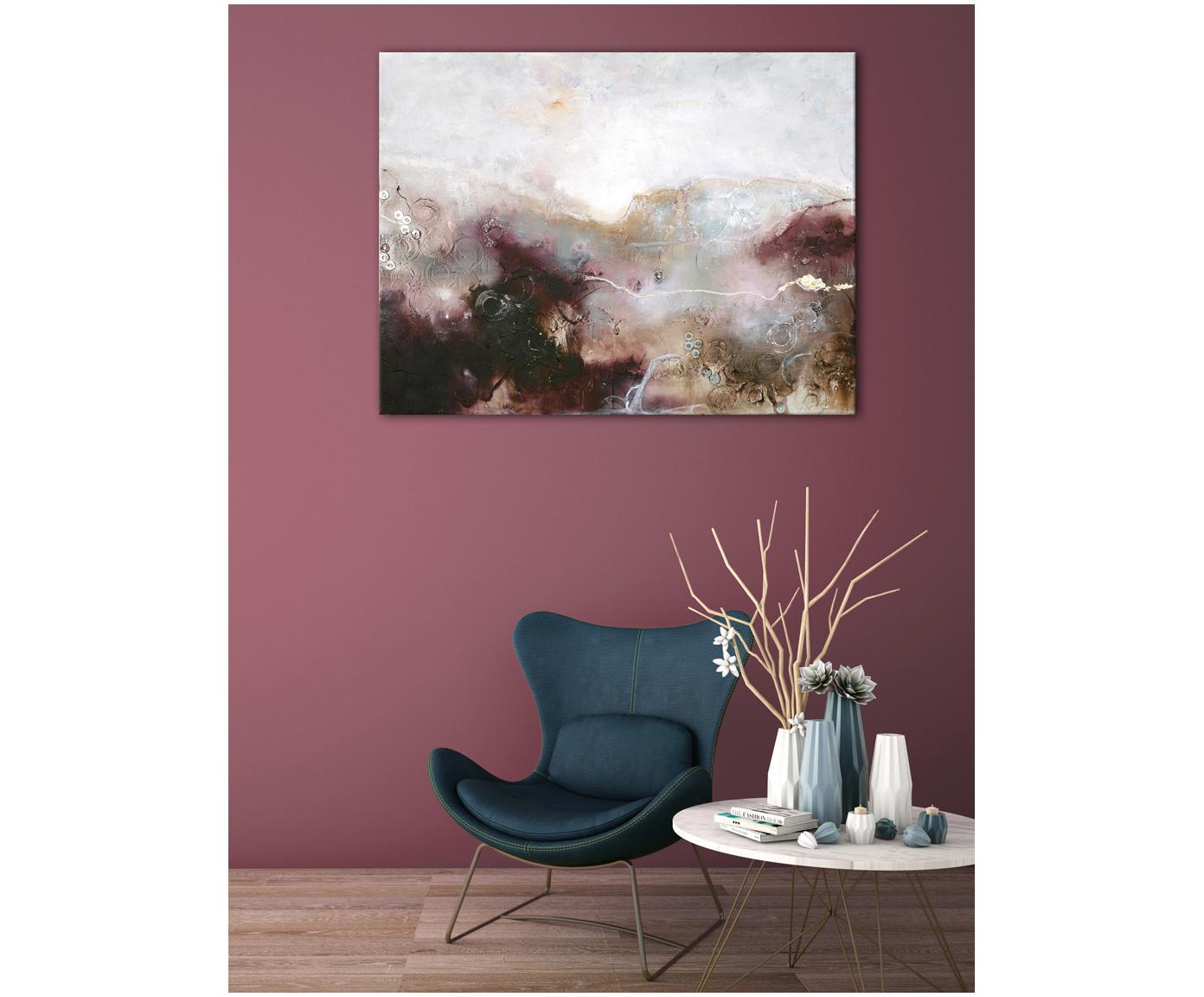 Tableau en toile peint à la main Turning Red, Multicolore
