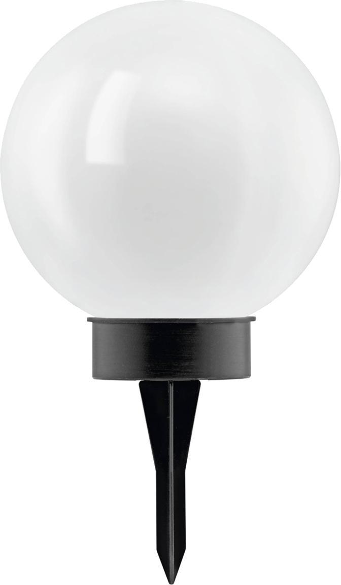 Lámpara de suelo solar LED Zindy, Plástico, Negro, blanco, Ø 20 x Al 40 cm