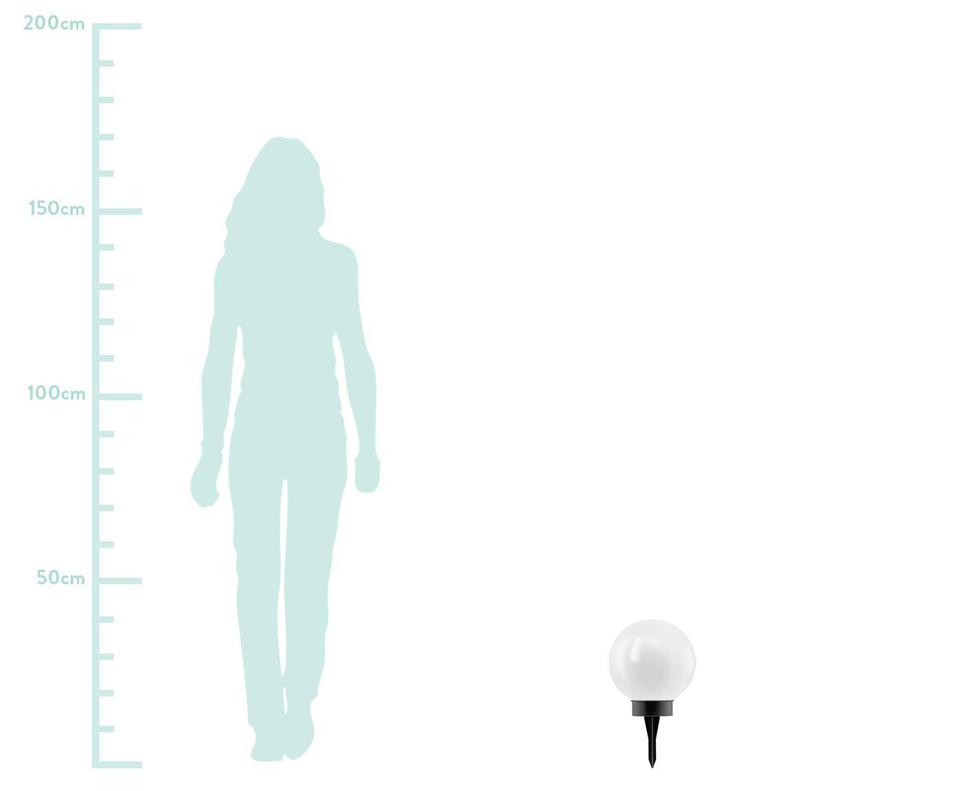Lampa solarna LED Zindy, Tworzywo sztuczne, Czarny, biały, Ø 20 x W 40 cm
