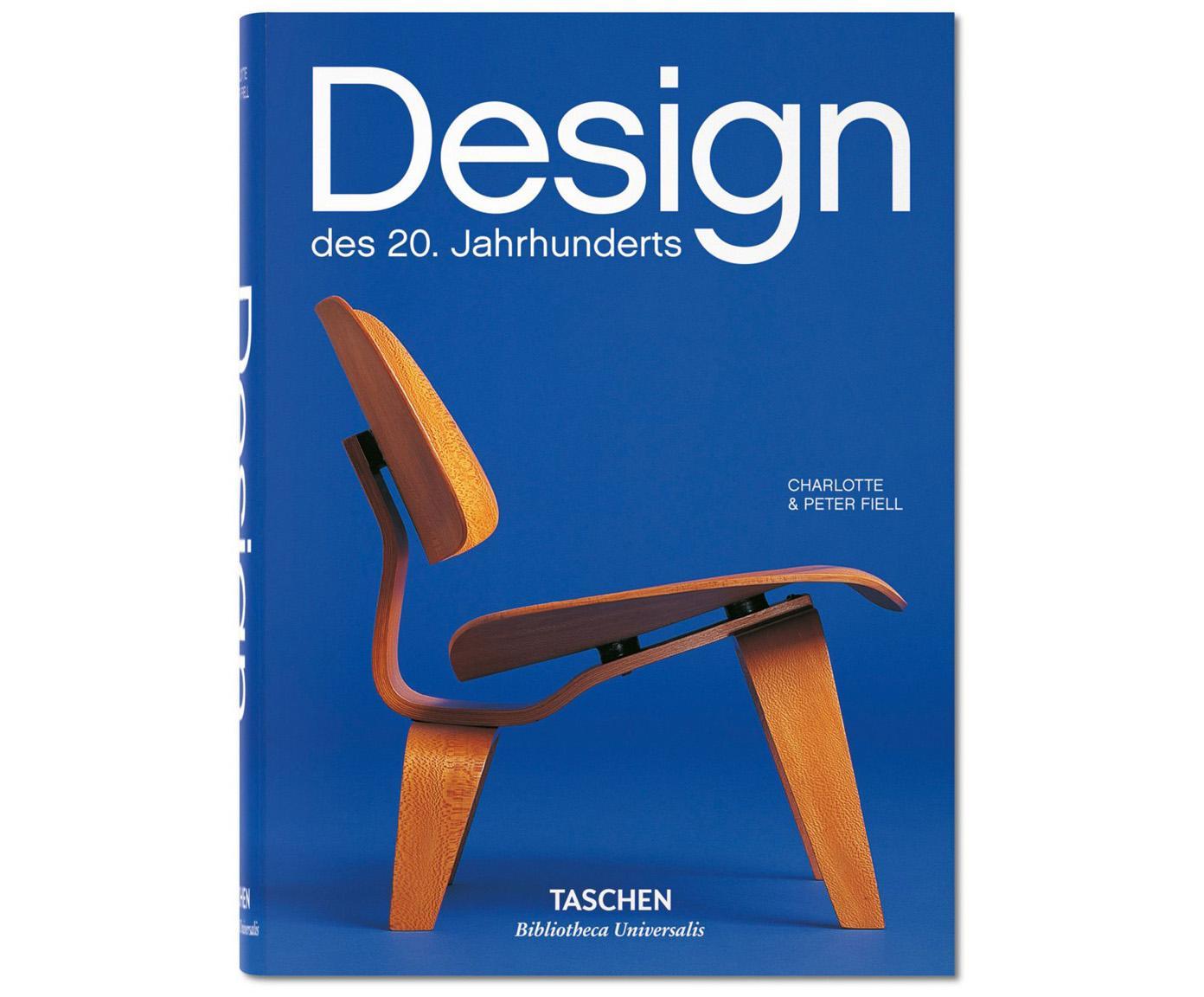 Buch Design des 20. Jahrhunderts, Papier, Hardcover, Blau, Weiss, Braun, 15 x 20 cm