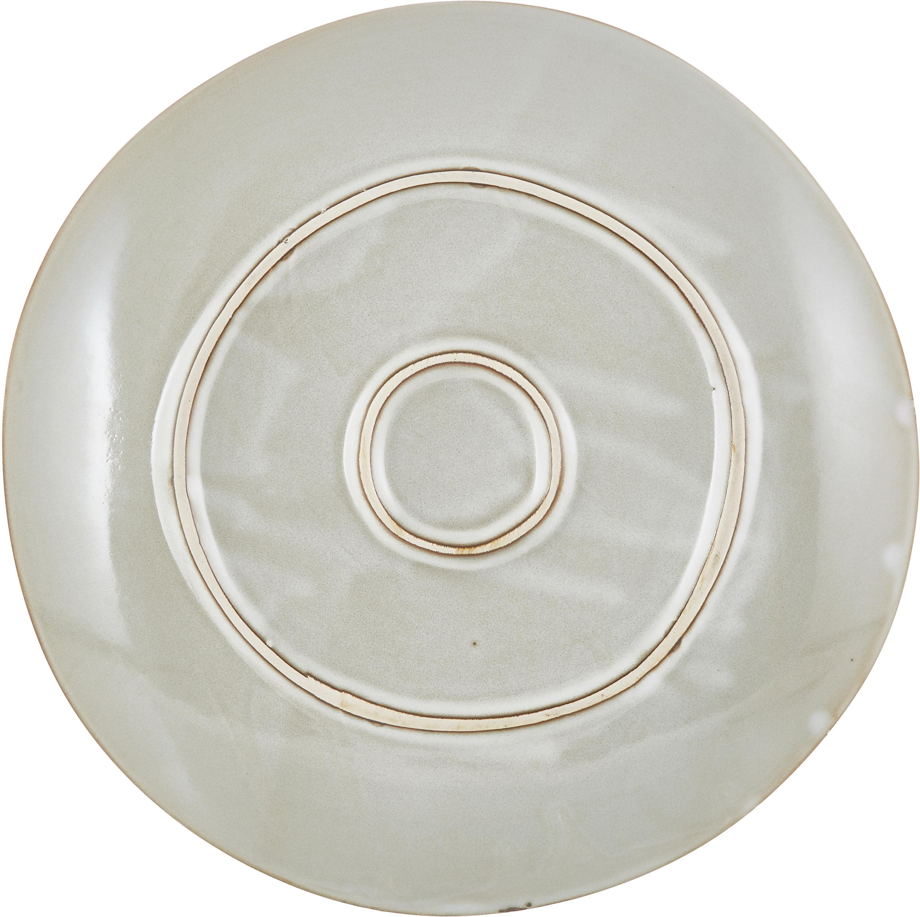 Platos llanos artesanales Thalia, 2uds., Gres, Beige, Ø 27 cm
