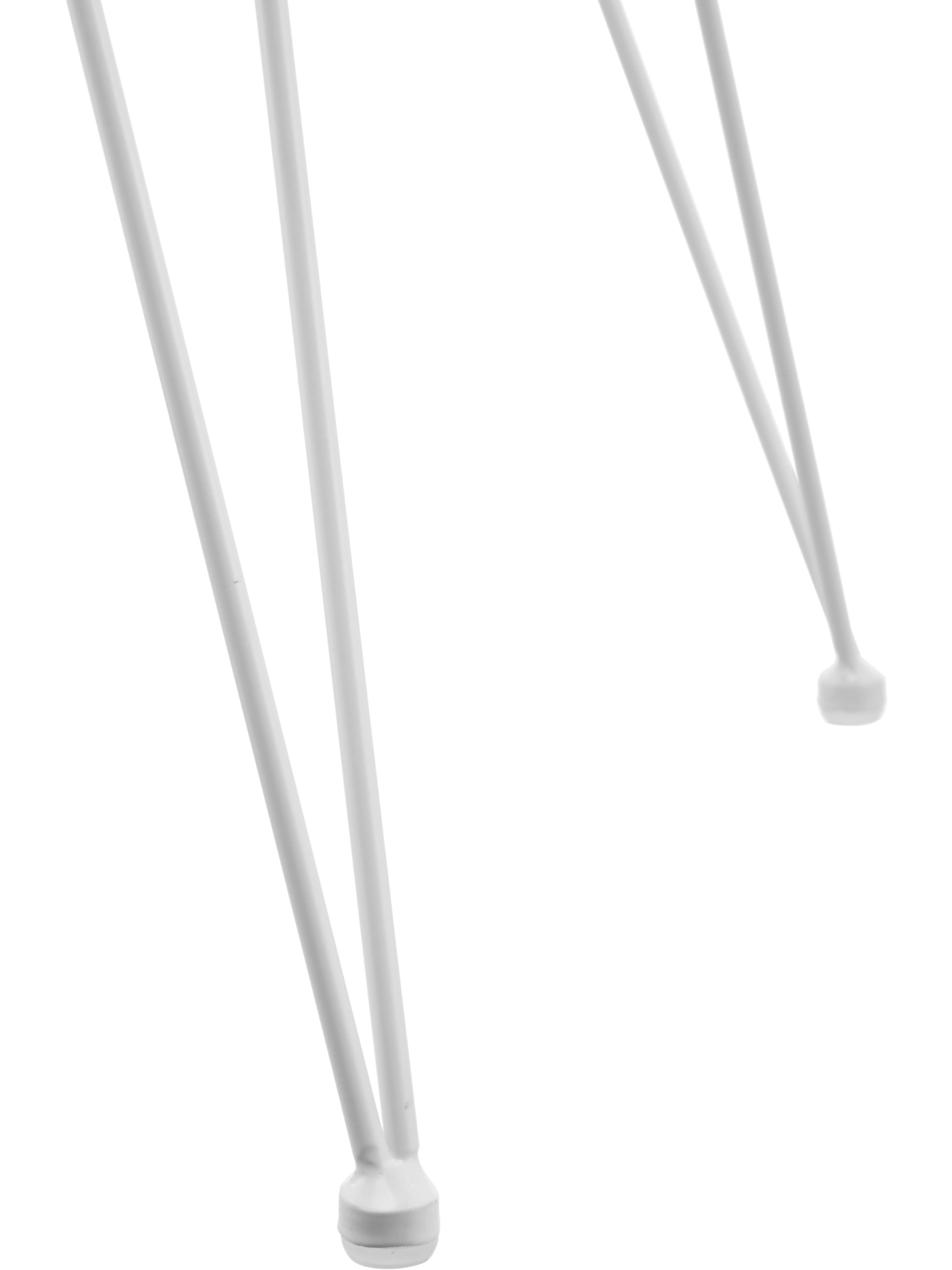 Polyrattan-Armlehnstühle Costa, 2 Stück, Sitzfläche: Polyethylen-Geflecht, Gestell: Metall, pulverbeschichtet, Sitzfläche: WeißGestell: Weiß, matt, B 59 x T 58 cm