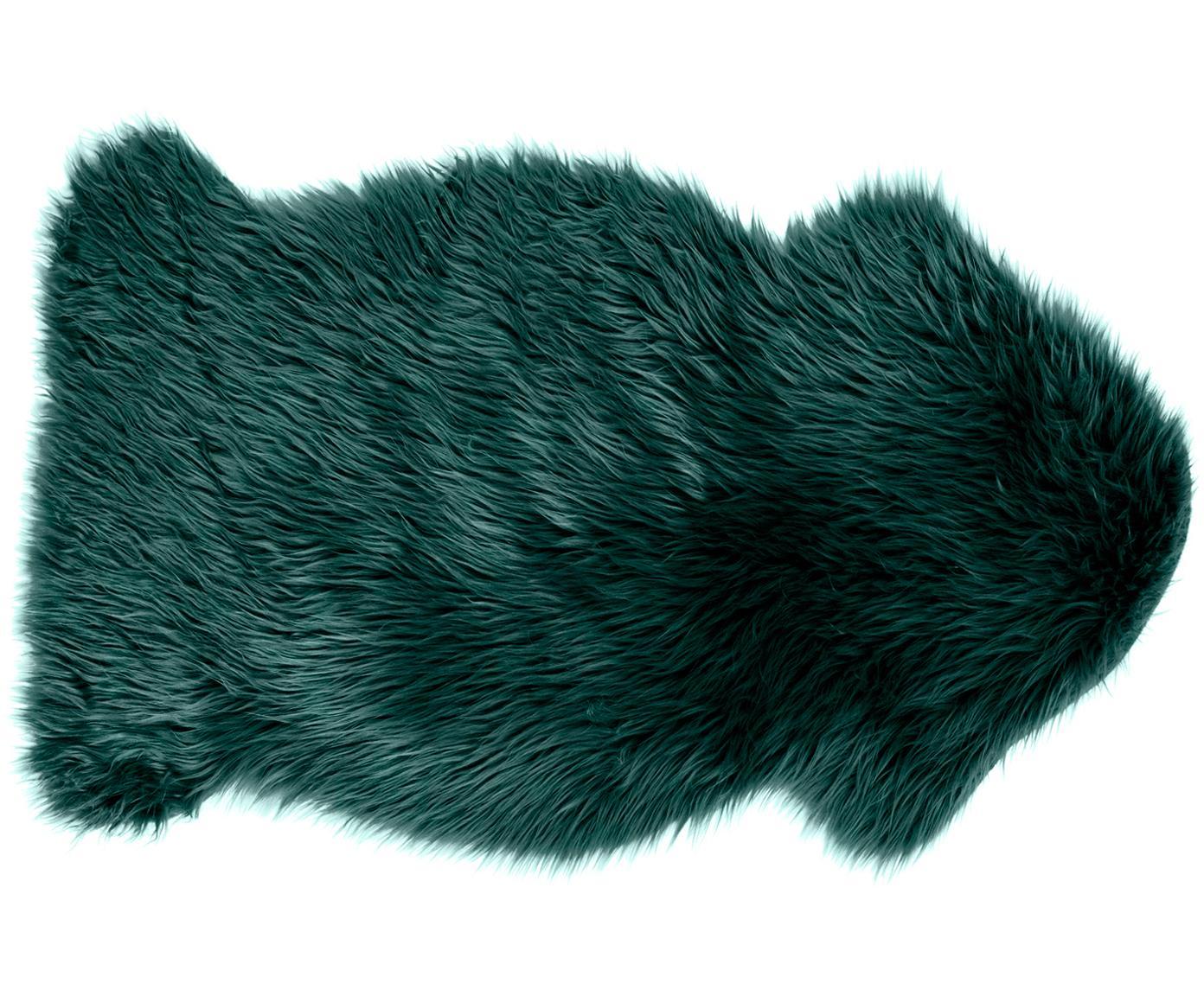 Kunstfell Vancouver, glatt, Vorderseite: 80% Acryl, 20% Polyester, Rückseite: Polyester, glatt, Dunkelgrün, 60 x 100 cm