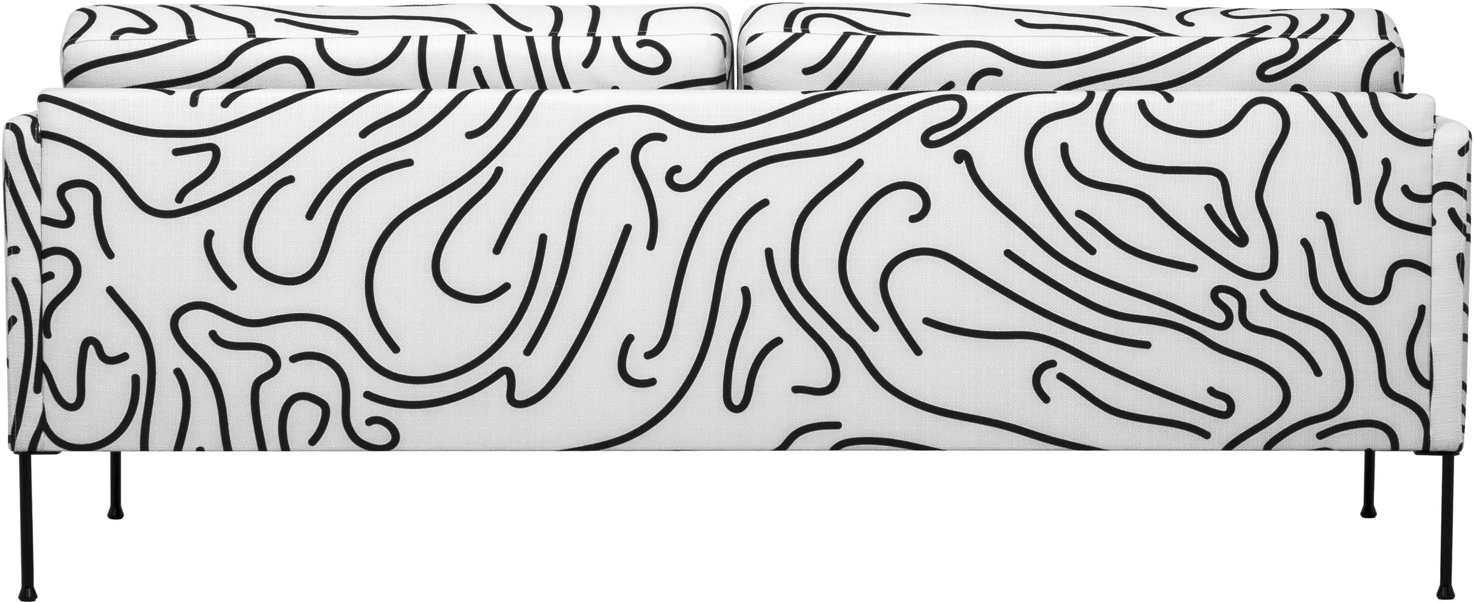 Sofa Fluente (3-Sitzer), Bezug: 100% Polyester Der hochwe, Gestell: Massives Kiefernholz, Webstoff Weiss, B 196 x T 85 cm