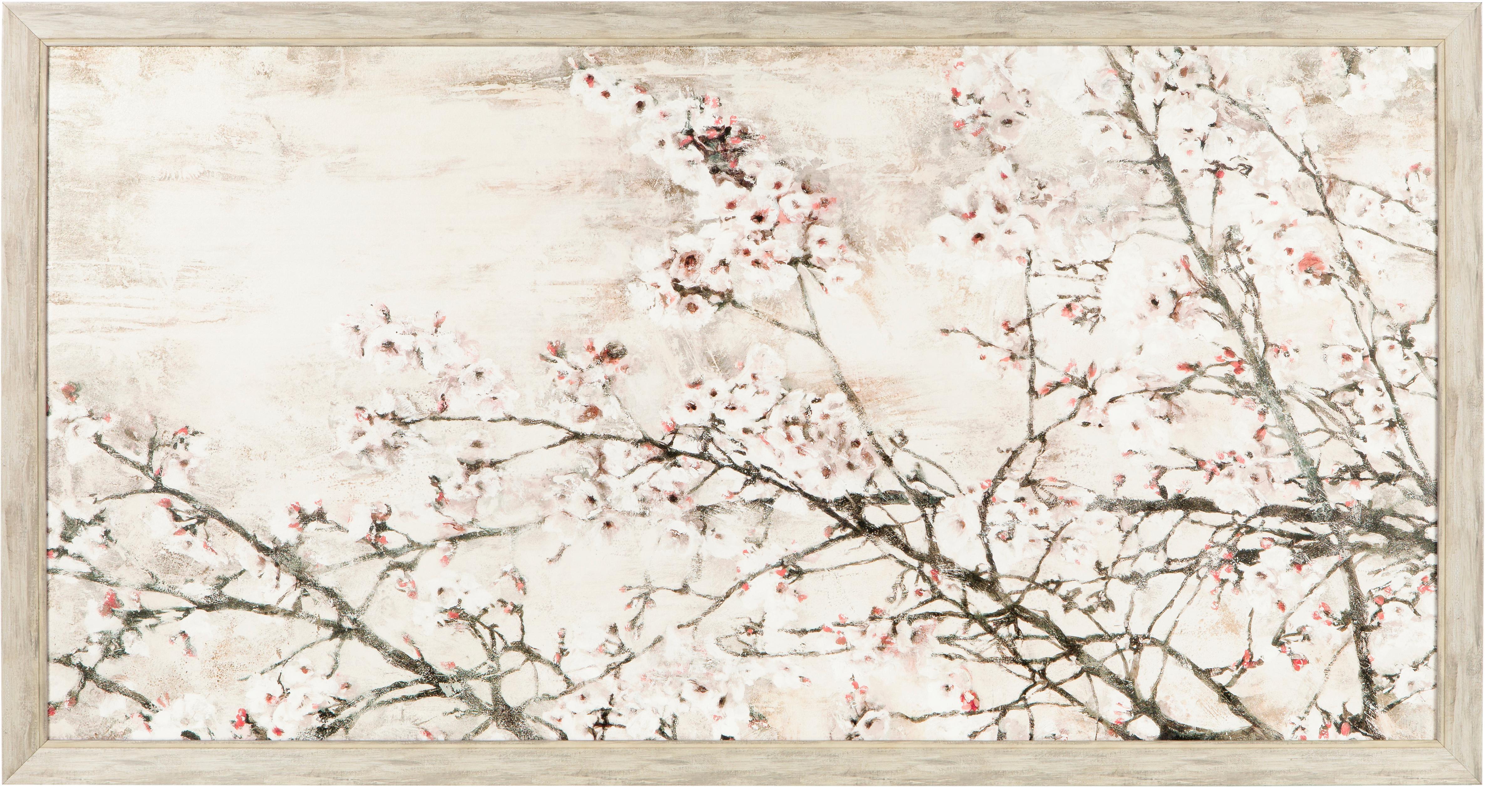 Impresión digital enmarcada sobre papel Abstract, Papel, madera, Beige, An 145 x Al 77 cm