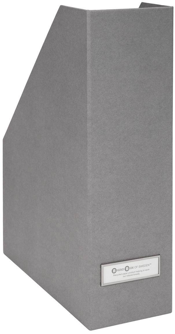 Portadocumenti Viktoria, Organizer: solido cartone laminato, Portadocumenti esterno: grigio chiaro<br>Portadocumenti interno: bianco<br>Scudo, Larg. 10 x Alt. 32 cm