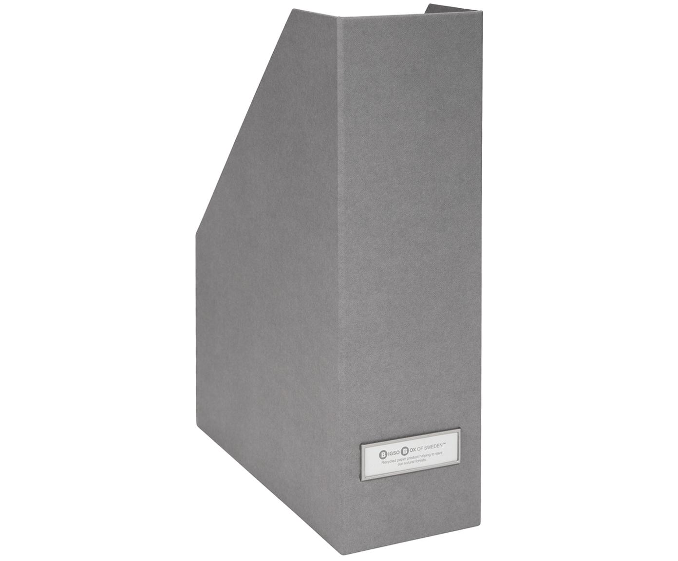 Organizador de documentos Viktoria, Organizador: cartón laminado, Gris claro, An 10 x Al 32 cm