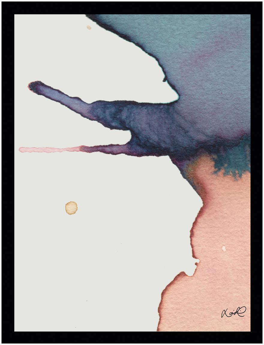 Oprawiony druk cyfrowy Paint II, Stelaż: tworzywo sztuczne, szklan, Wielobarwny, S 30 x W 40 cm