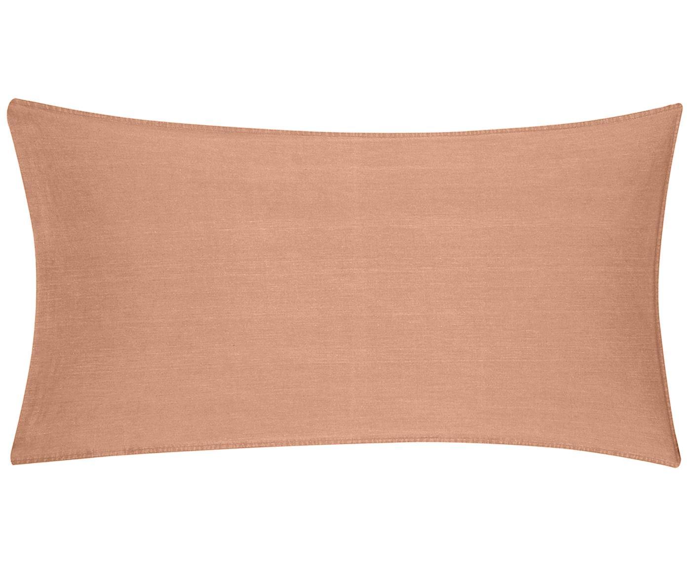 Poszewka na poduszkę z efektem Soft-Washed Arlene, 2 szt., Morelowy, S 40 x D 80 cm