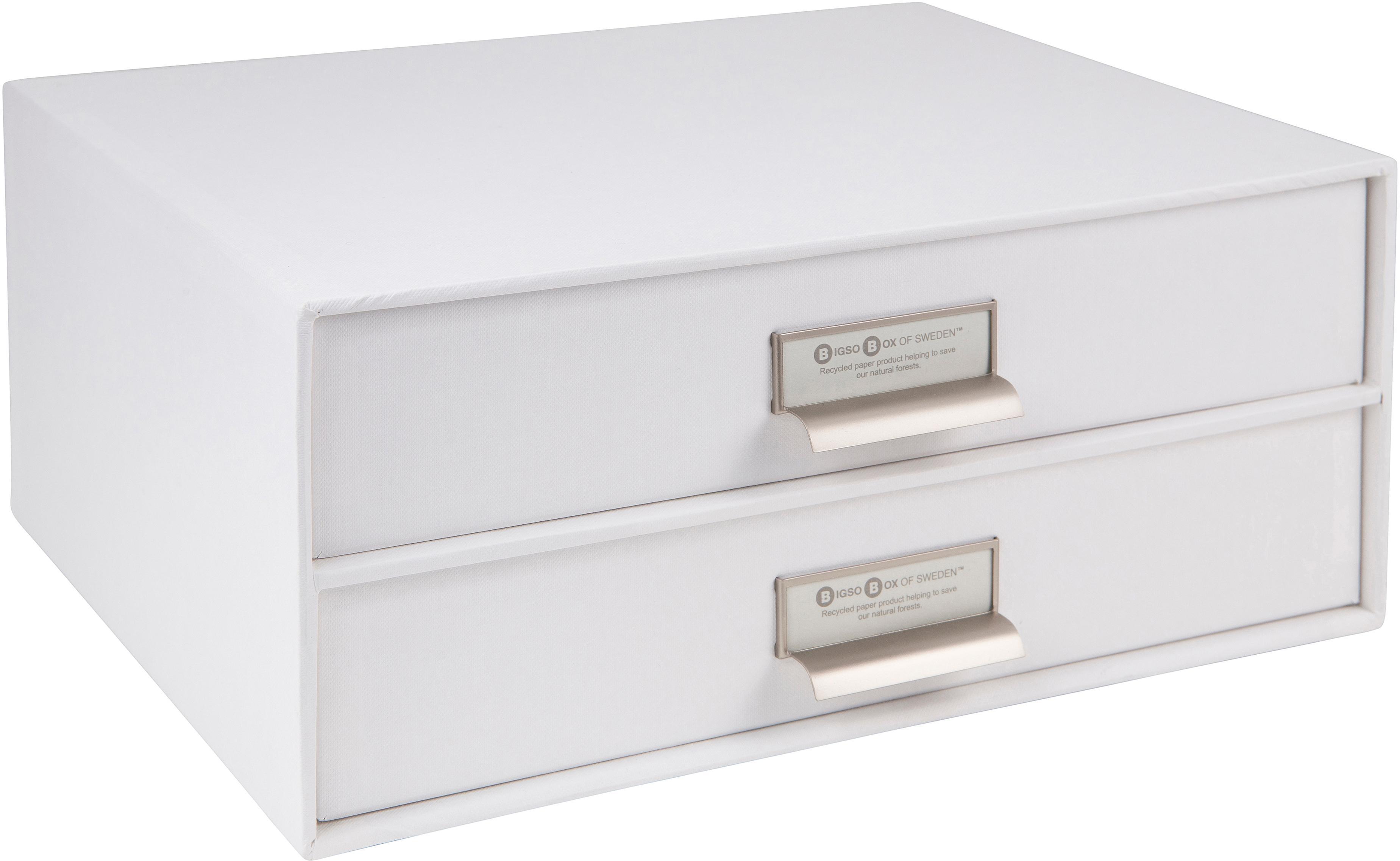 Büro-Organizer Birger, Organizer: Fester, laminierter Karto, Organizer aussen: Weiss Organizer innen: Weiss, 33 x 15 cm
