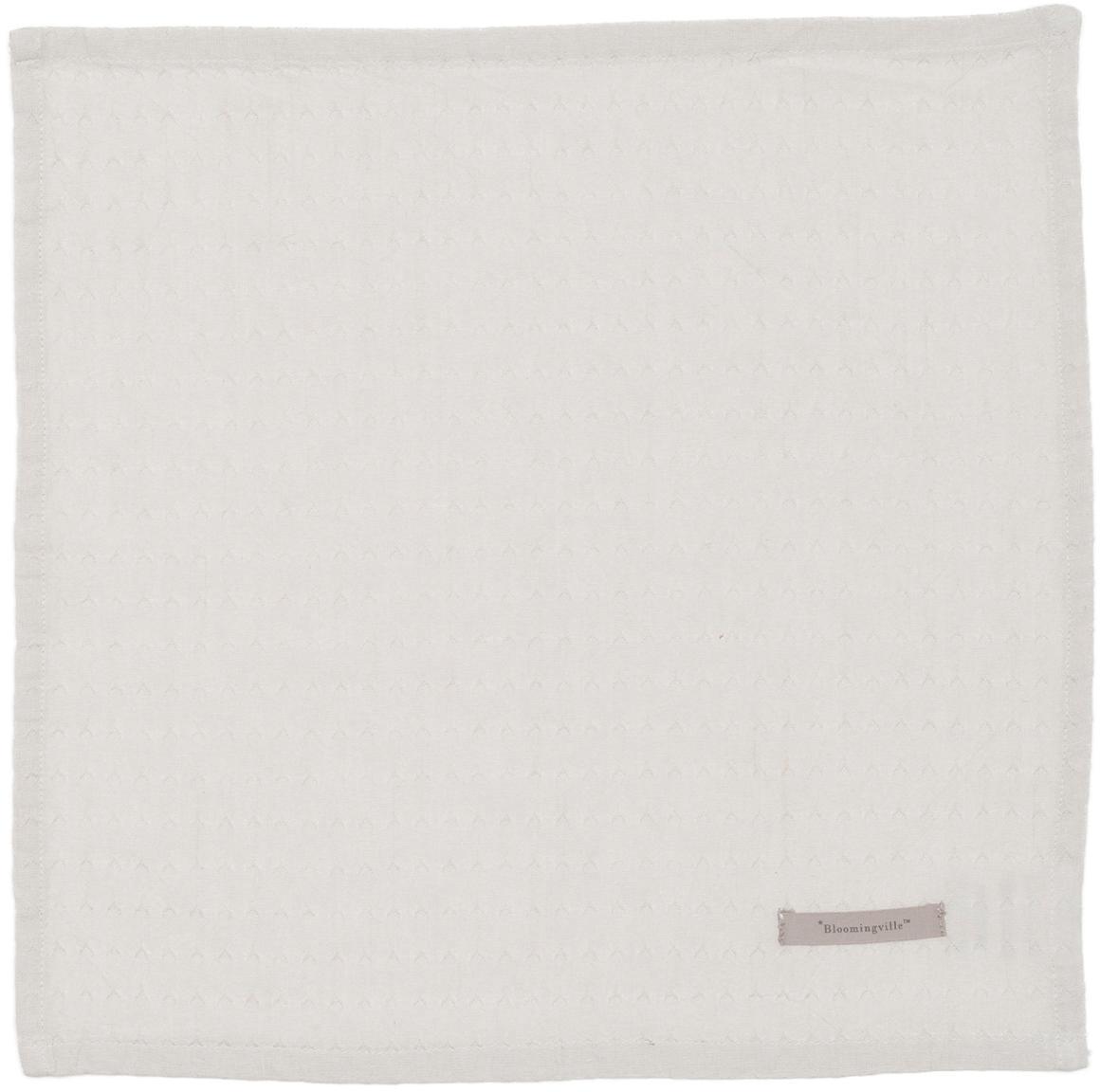 Servilletas de algodón Blanc, 4uds., Algodón, Gris, An 40 x L 40 cm