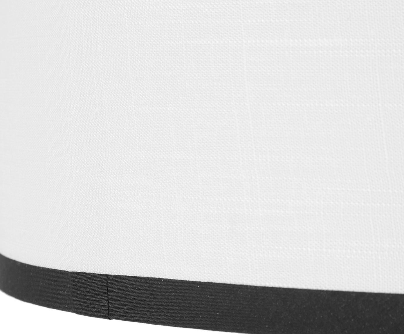 Lampa podłogowa z lnu Claudette, Kremowy, czarny, Ø 40 x W 165 cm