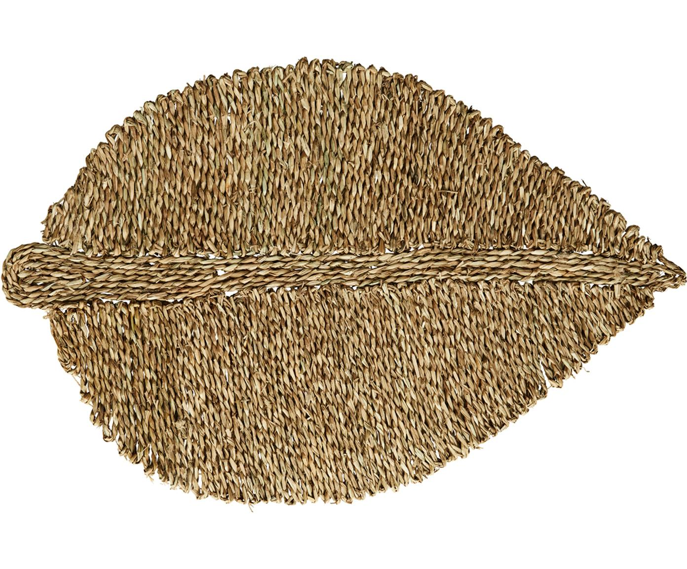 Felpudo de seagrass Leaflet, Algas marinas, Beige, An 52 x L 80 cm