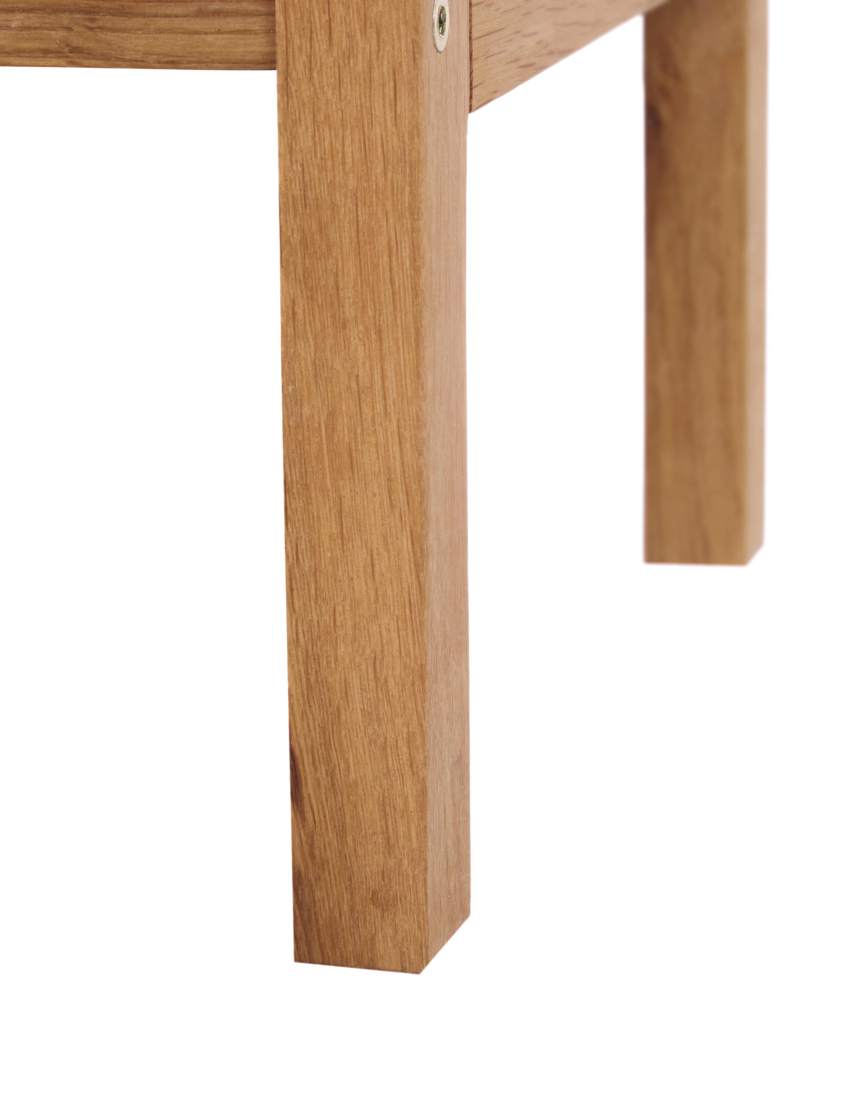 Holz-Schuhregal Confetti mit 2 Ablageflächen, Eichenholz, lackiert, Braun, 80 x 40 cm