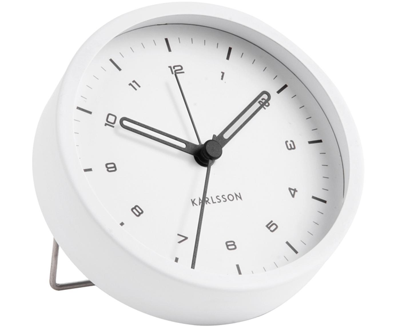 Despertador Tinge, Acero, pintado, Blanco, Ø 9 x F 3 cm