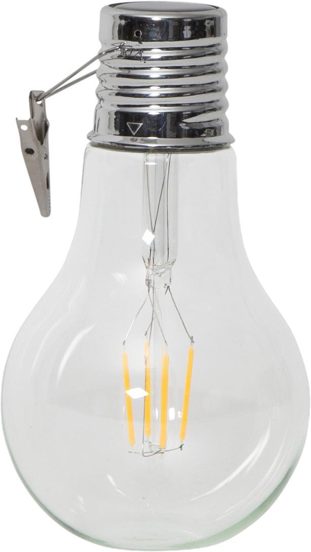 Solar LED lichtobjecten Fille, 2 stuks, Frame: glas, Transparant, Ø 10 x H 18 cm