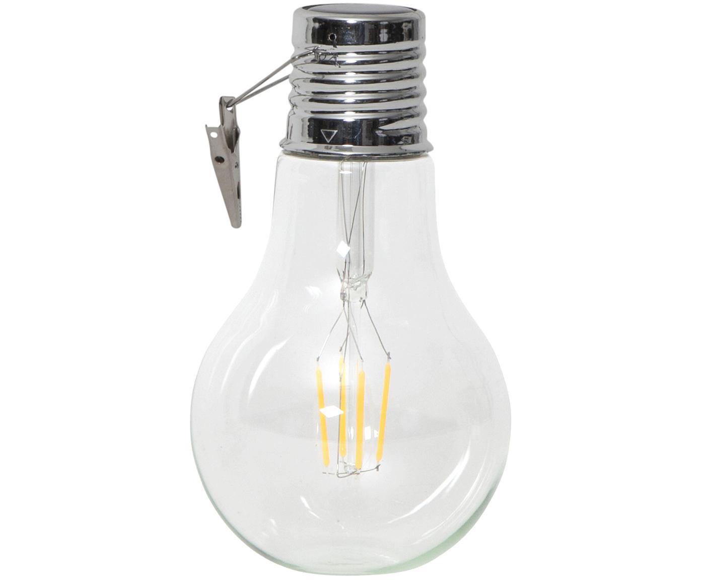 Lampada solare a LED da esterno Fille 2 pz, Trasparente, Ø 10 x Alt. 18 cm