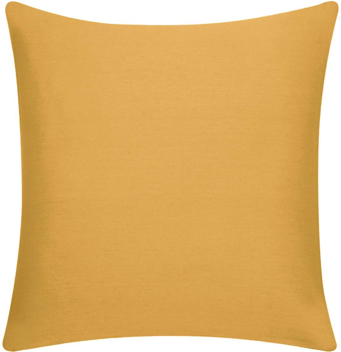Federa arredo in cotone giallo senape Mads, 100% cotone, Giallo senape, Larg. 50 x Lung. 50 cm