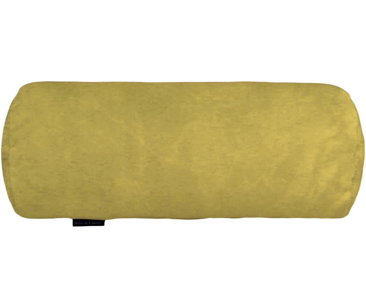 Cojín rulo Amarillo, Poliéster, Mostaza, Ø 20 x L 50 cm