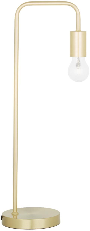 Lampada da tavolo retrò Flow, Ottone spazzolato, Larg. 22 x Alt. 56 cm