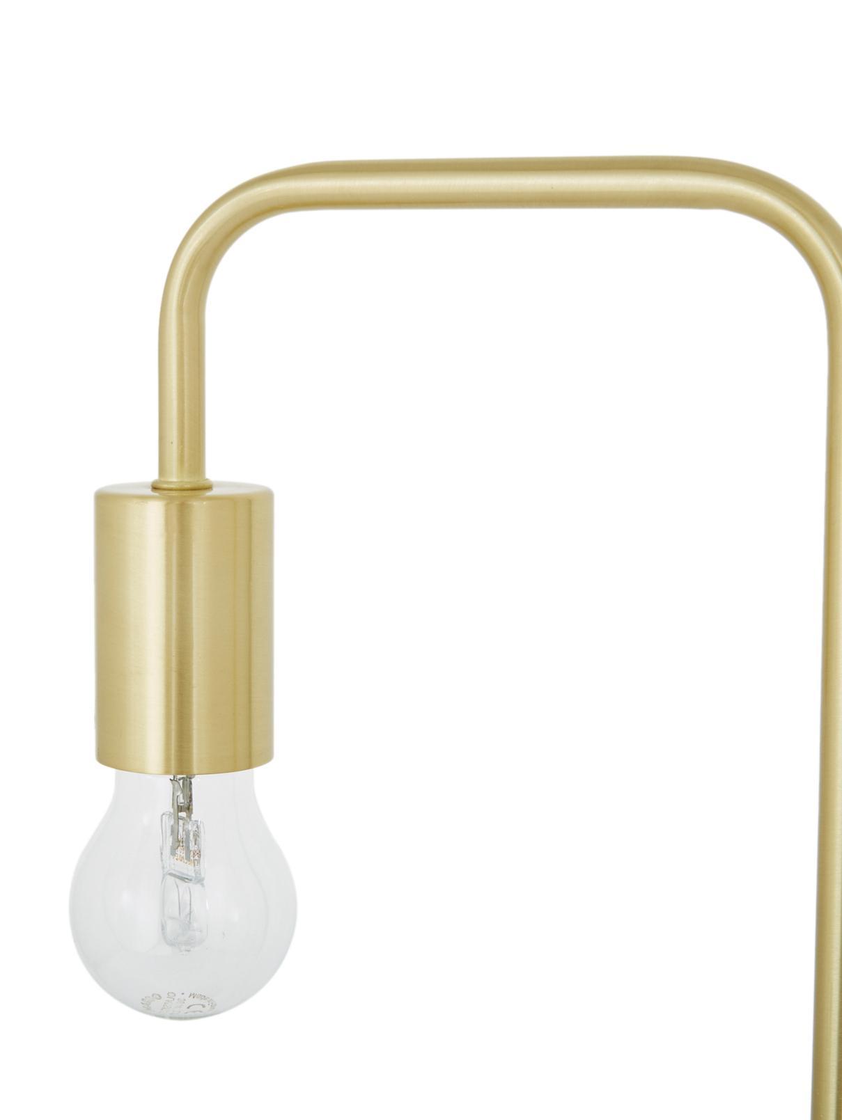 Schreibtischlampe Flow aus Metall, Messing, gebürstet, 22 x 56 cm