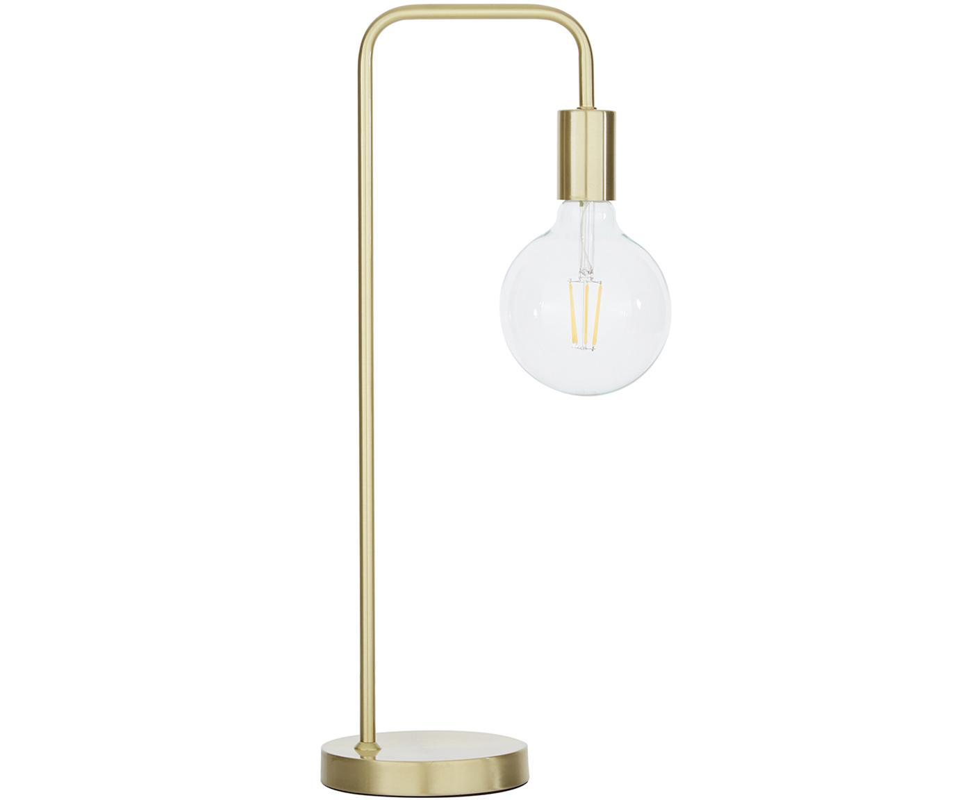 Lámpara de escritorio Flow, Cable: cubierto en tela, Latón, cepillado, An 22 x Al 56 cm