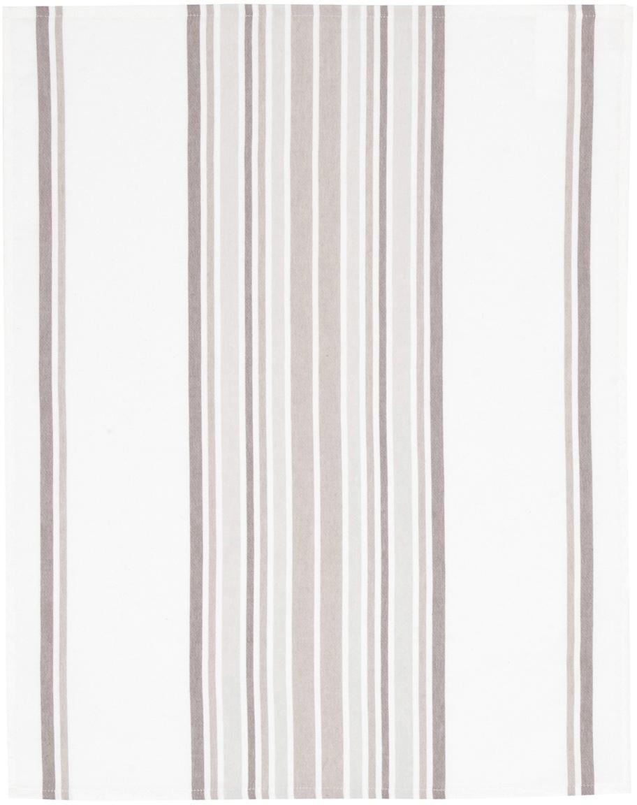 Strofinacci Katie 2 pz, Cotone, Bianco, beige, Larg. 50 x Lung. 70 cm