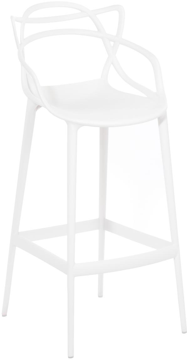 Sgabello da bar Masters, Polipropilene, Bianco, Larg. 49 x Alt. 109 cm