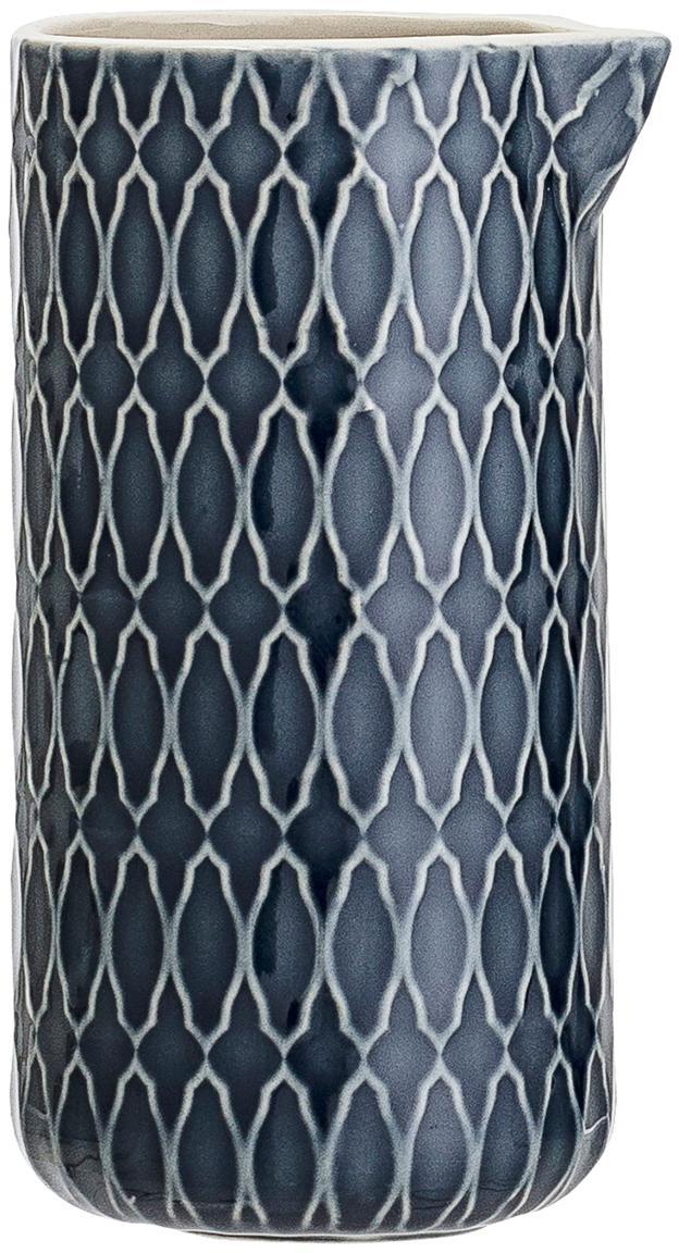 Dzbanek Naomi, Kamionka, Niebieski, biały, Ø 6 x W 12 cm