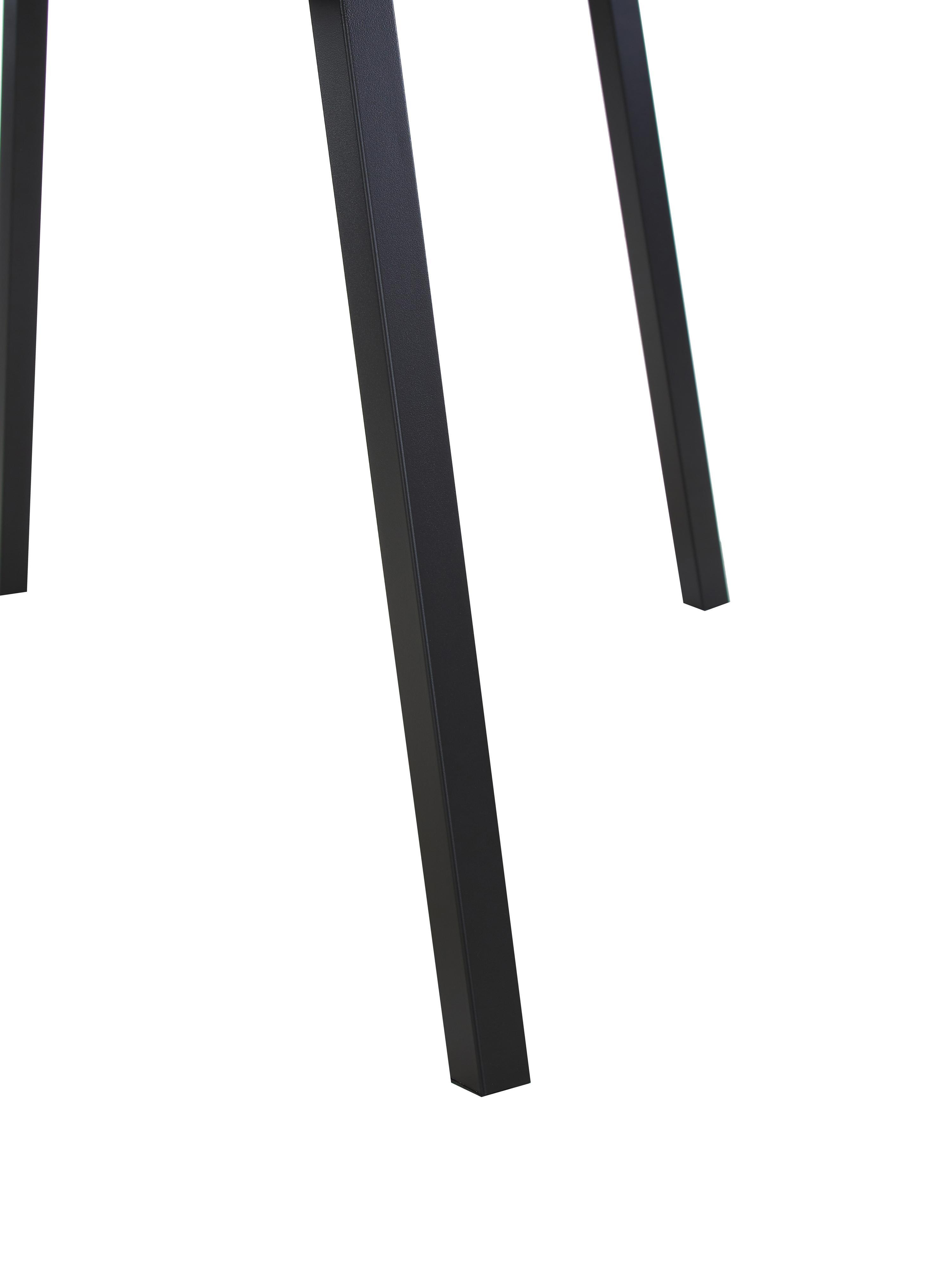 Esstisch Cenny mit Tischplatte in Eichenholz-Optik, Tischplatte: Mitteldichte Holzfaserpla, Gestell: Metall, pulverbeschichtet, Eichenholz, Schwarz, B 160 x T 90 cm