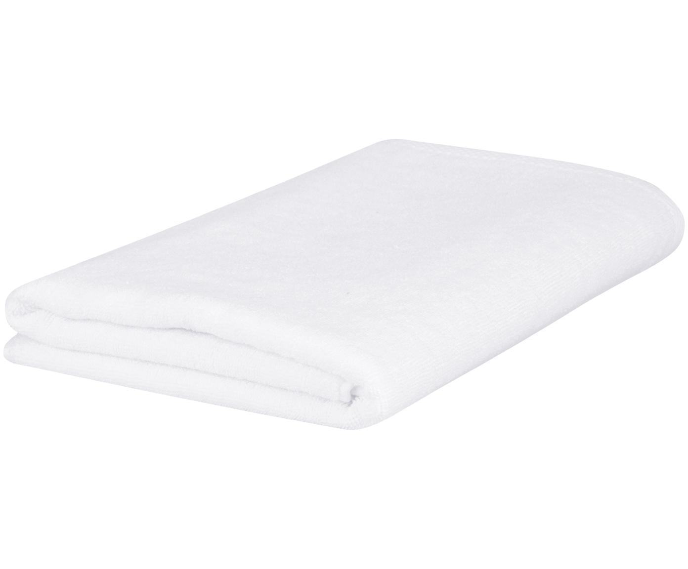 Einfarbiges Handtuch Comfort, Weiß, Gästehandtuch