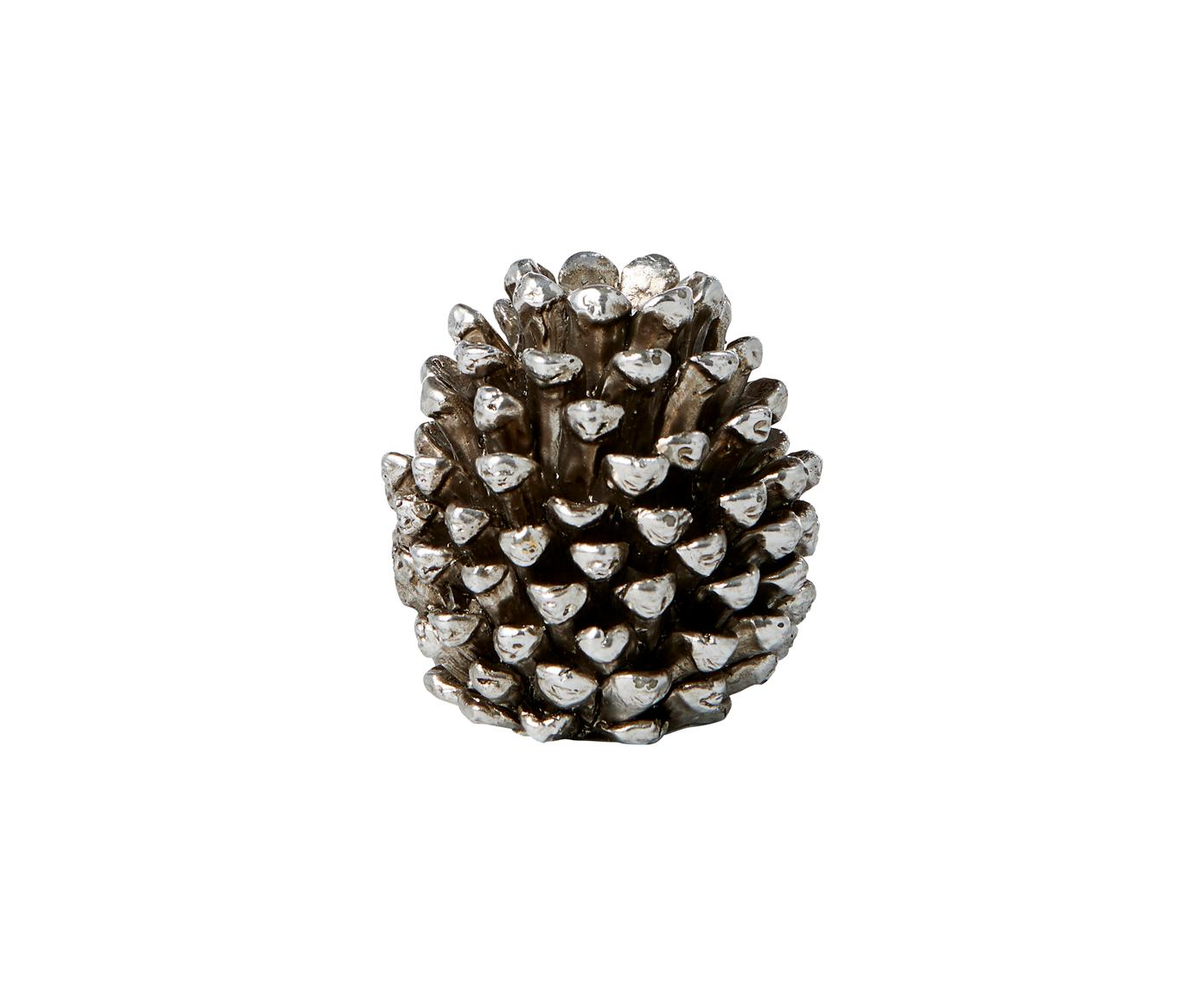 Kandelaar Serafina Cone, Polyresin, Zilverkleurig, Ø 6 x H 6 cm