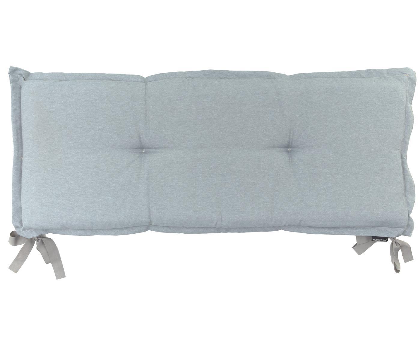 Cuscino sedia lungo Panama, 50% cotone, 45% poliestere, 5% altre fibre, Grigio chiaro, Larg. 48 x Lung. 120 cm