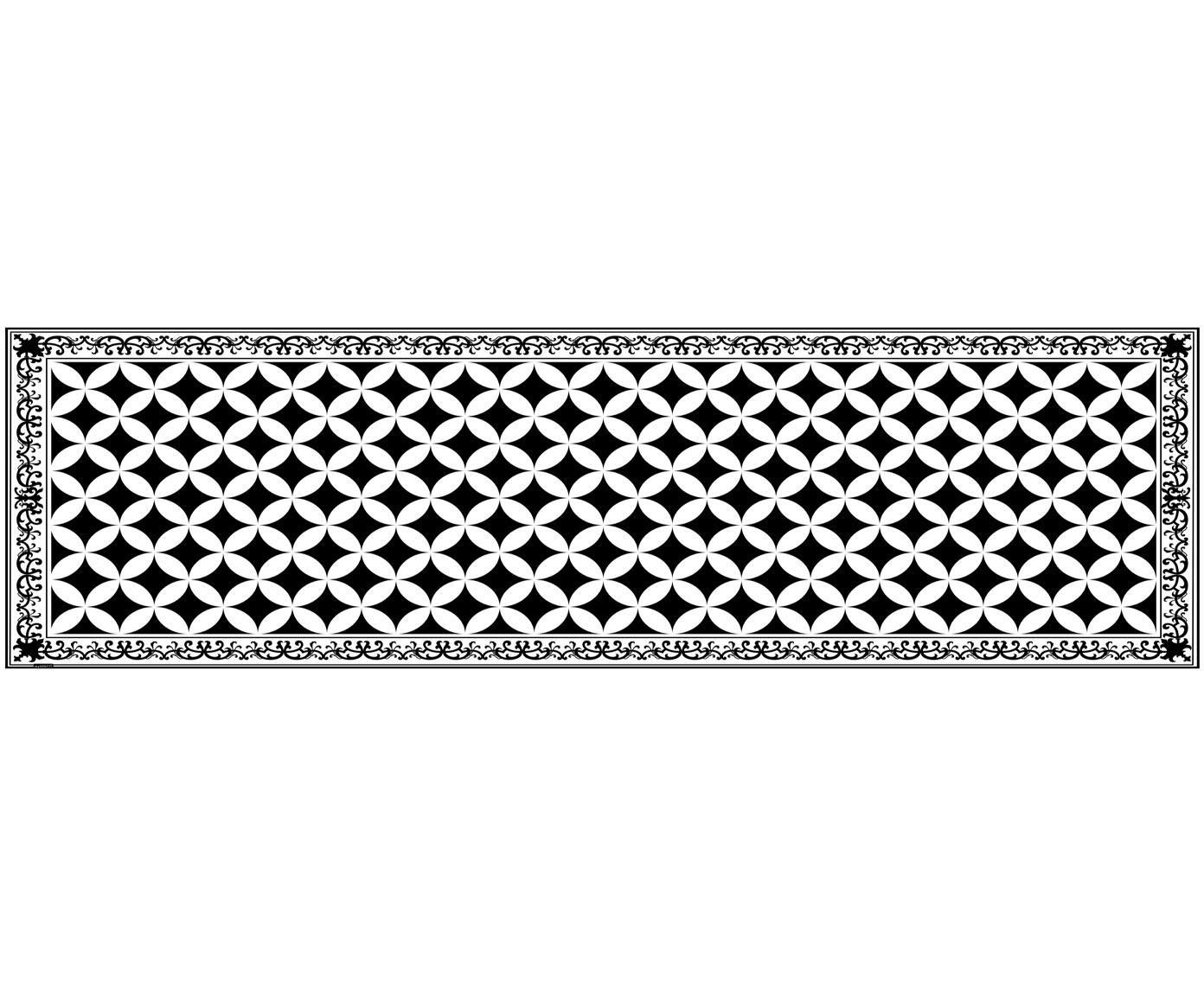 Alfombra vinílica Chadi, Vinilo, Negro, blanco, An 65 x L 255 cm